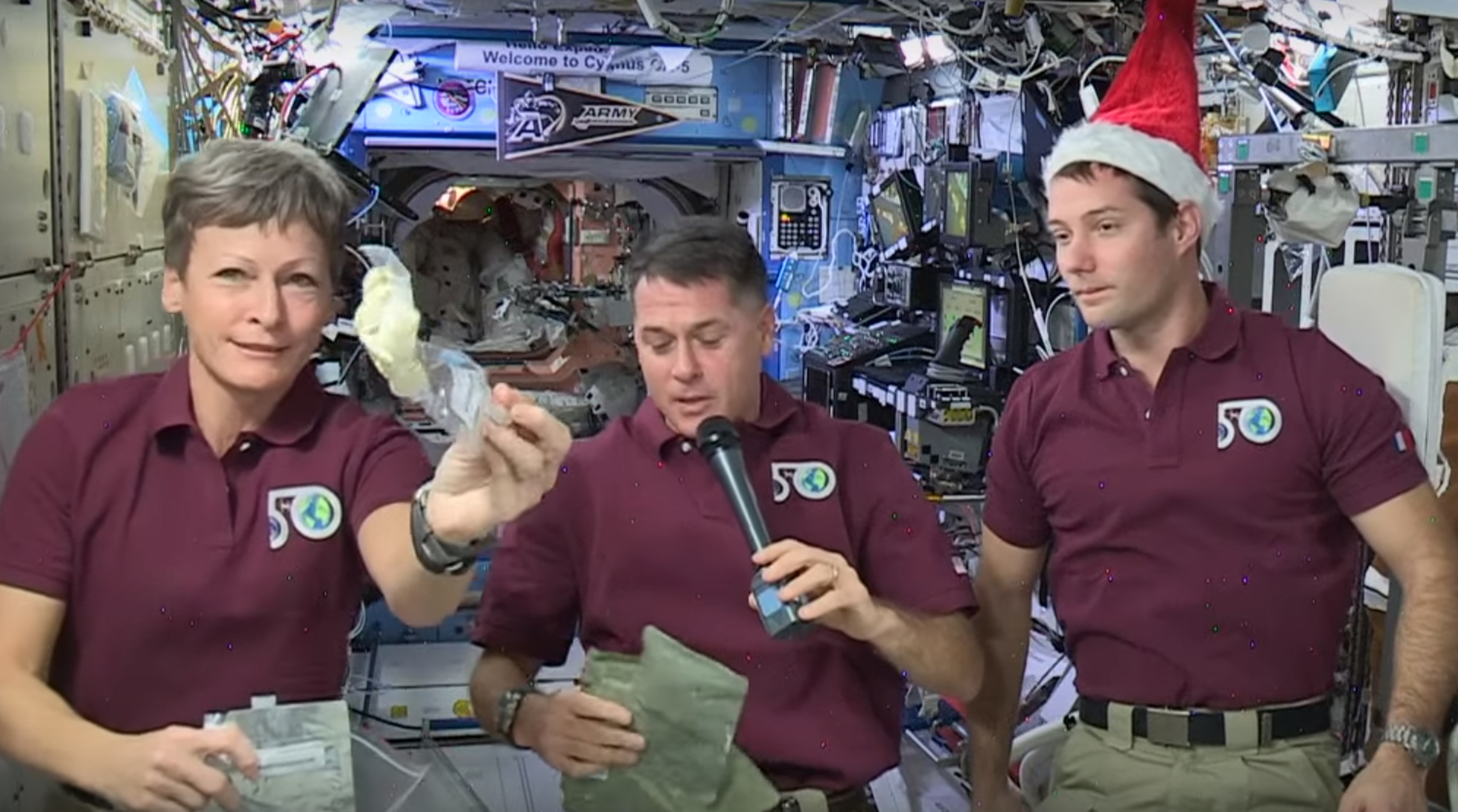 Astronauts on the ISS.