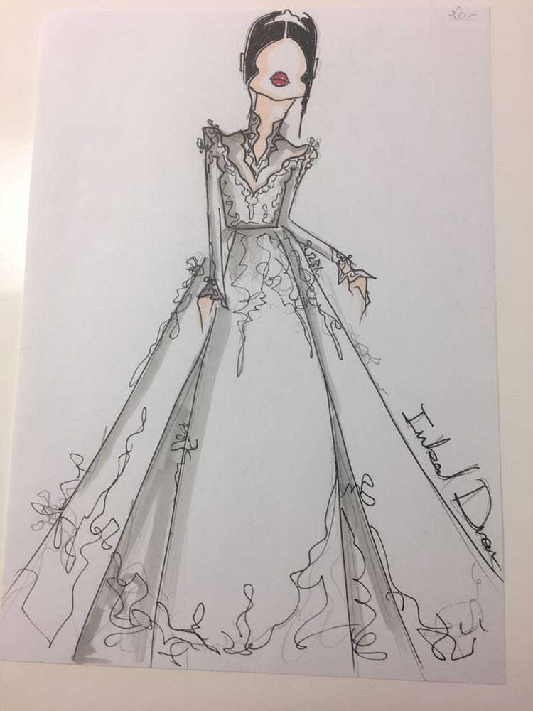 Meghan Markle's potential wedding dress design