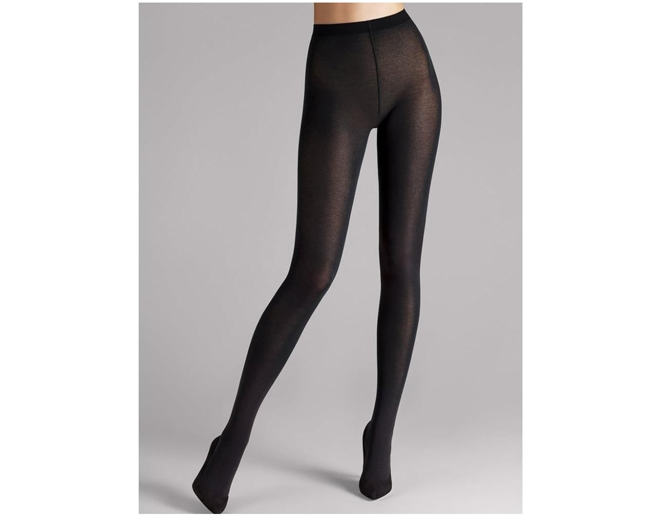 Wolford Cotton Velvet Black Tights