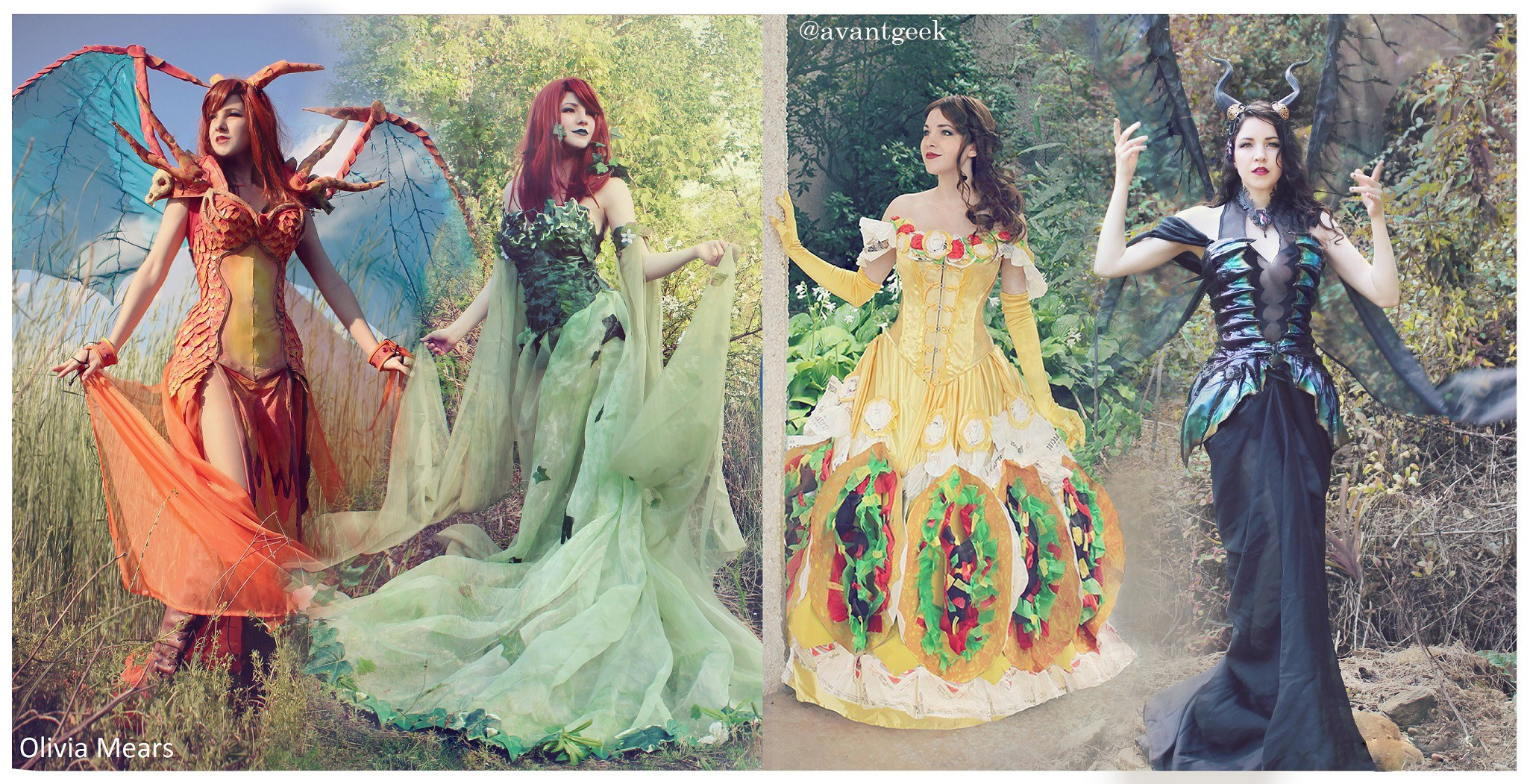Dresses created by and worn by Olivia Mears/AvantGeek (Olivia Mears, AvantGeek)