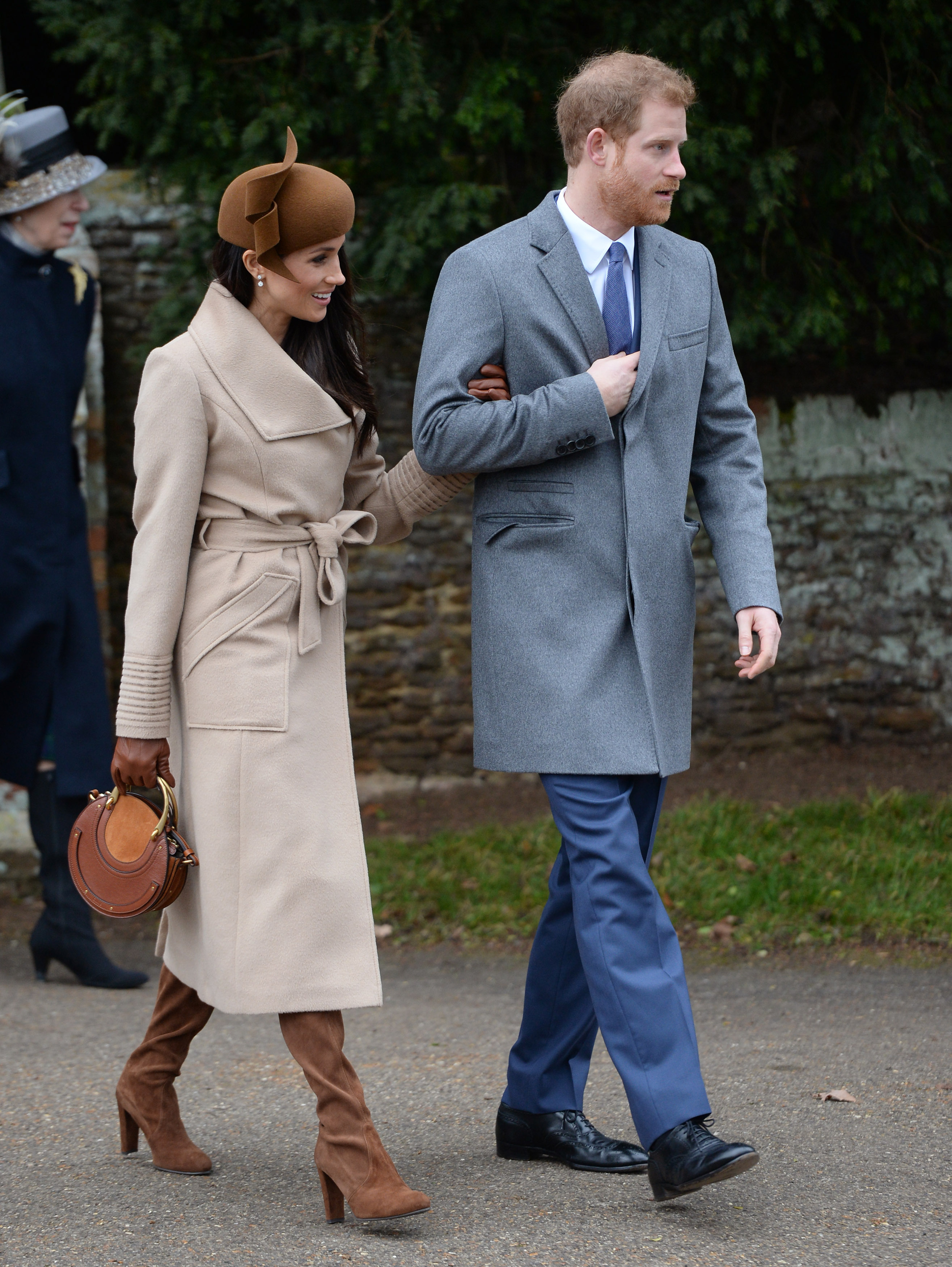 Meghan Markle and Prince Harry leaves the Christmas Day morning church  service at St Mary Magdalene 70972a4232d8