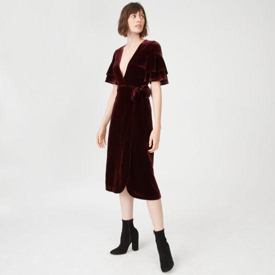 model wearing Club Monaco Tay Dress