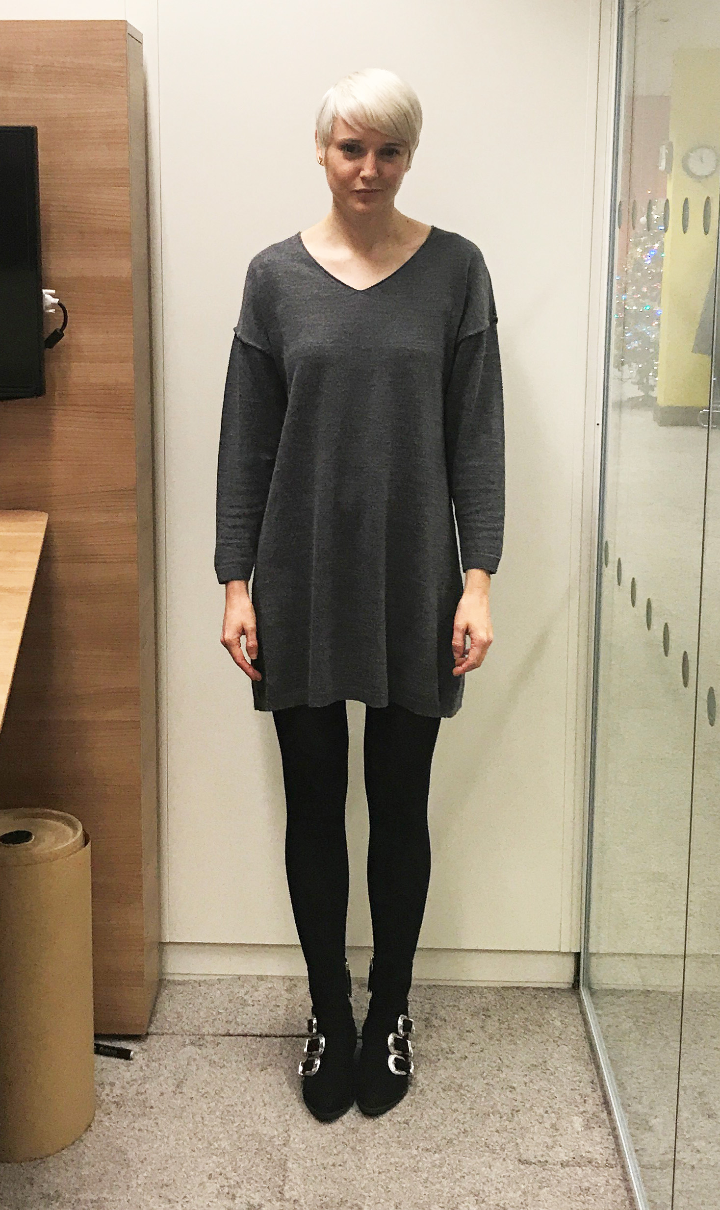 Katie wearing Wolford Cotton Velvet Black Tights
