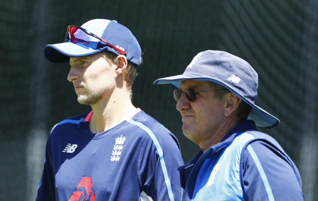 It has been a chastening tour for England coach Trevor Bayliss, right, and Root (Jason O'Brien/PA)