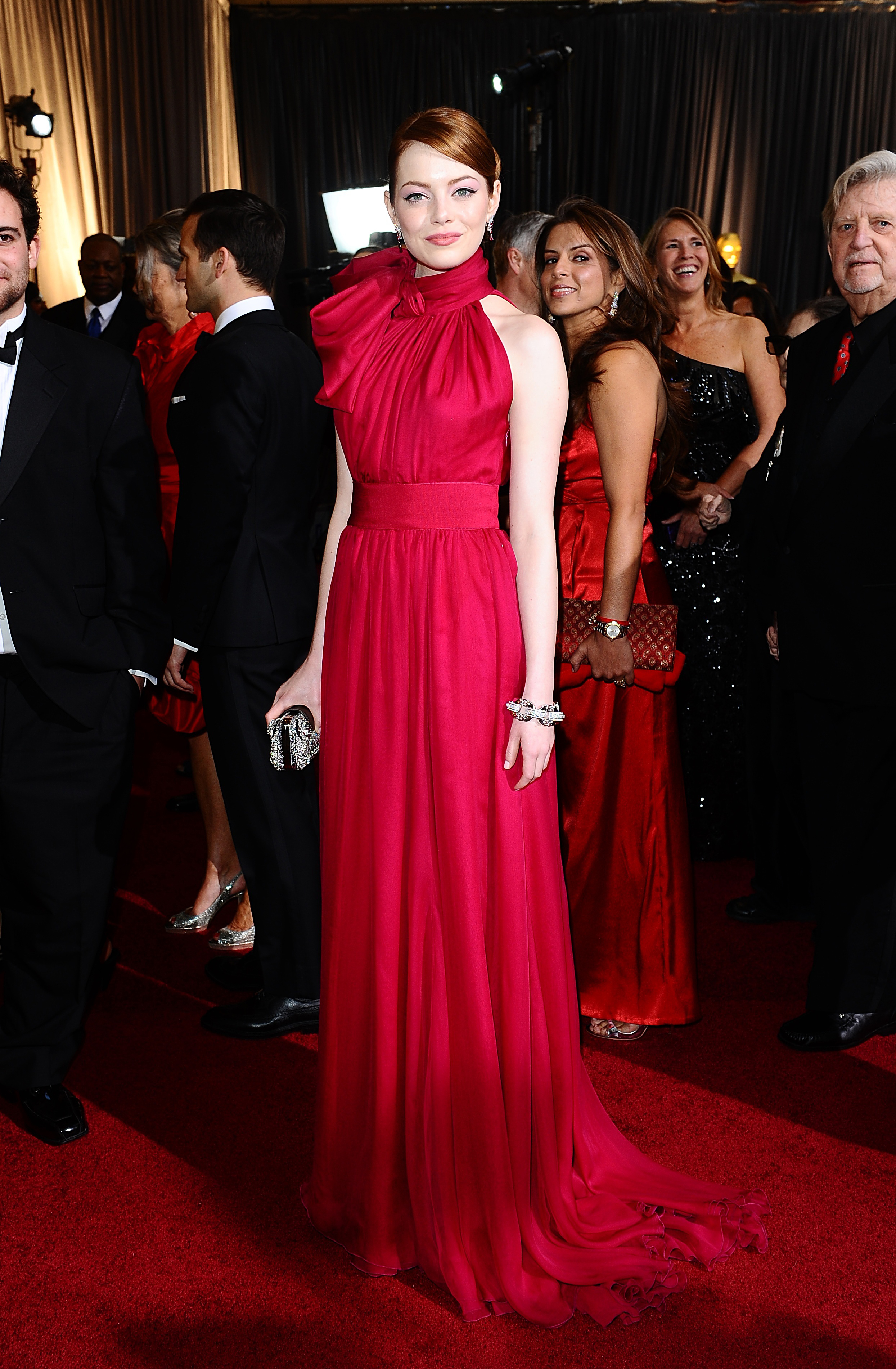 Emma Stone arriving for the 84th Academy Awards at the Kodak Theatre, Los Angeles.