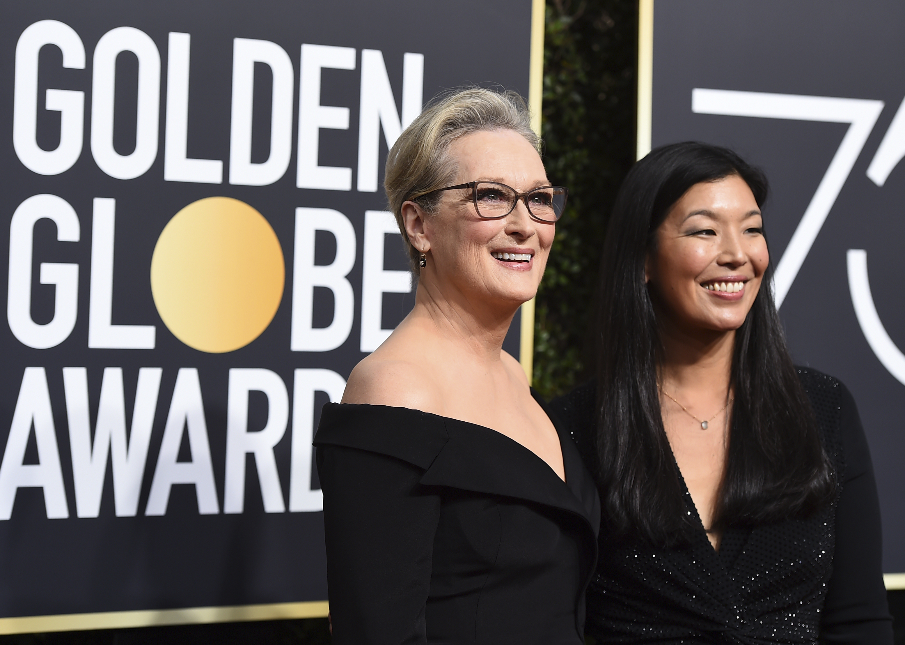 Meryl Streep left and Ai-jen Poo