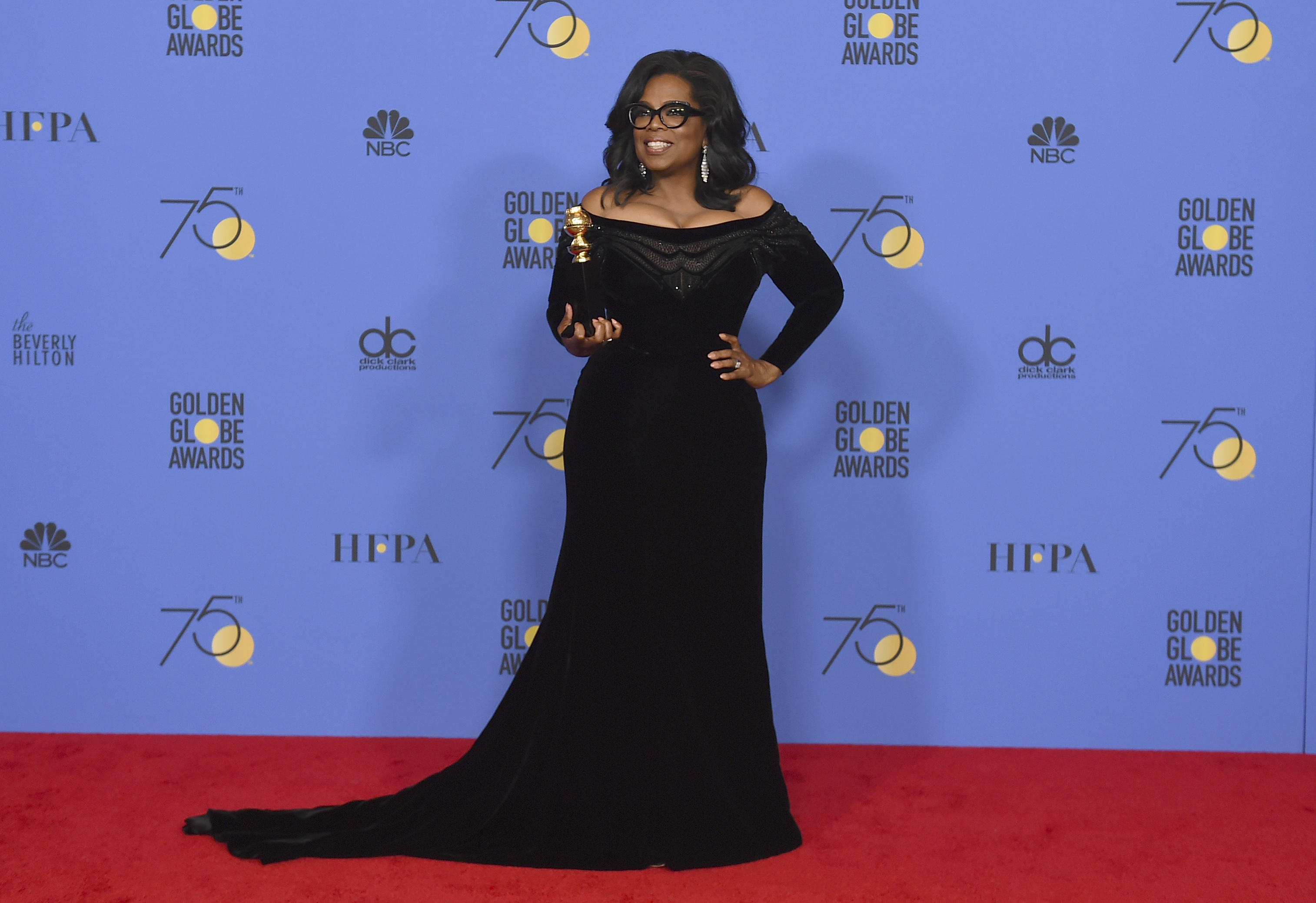 Oprah Winfrey at the Golden Globes (Jordan Strauss/Invision/AP)
