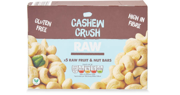 Box of raw fruit and nut bars