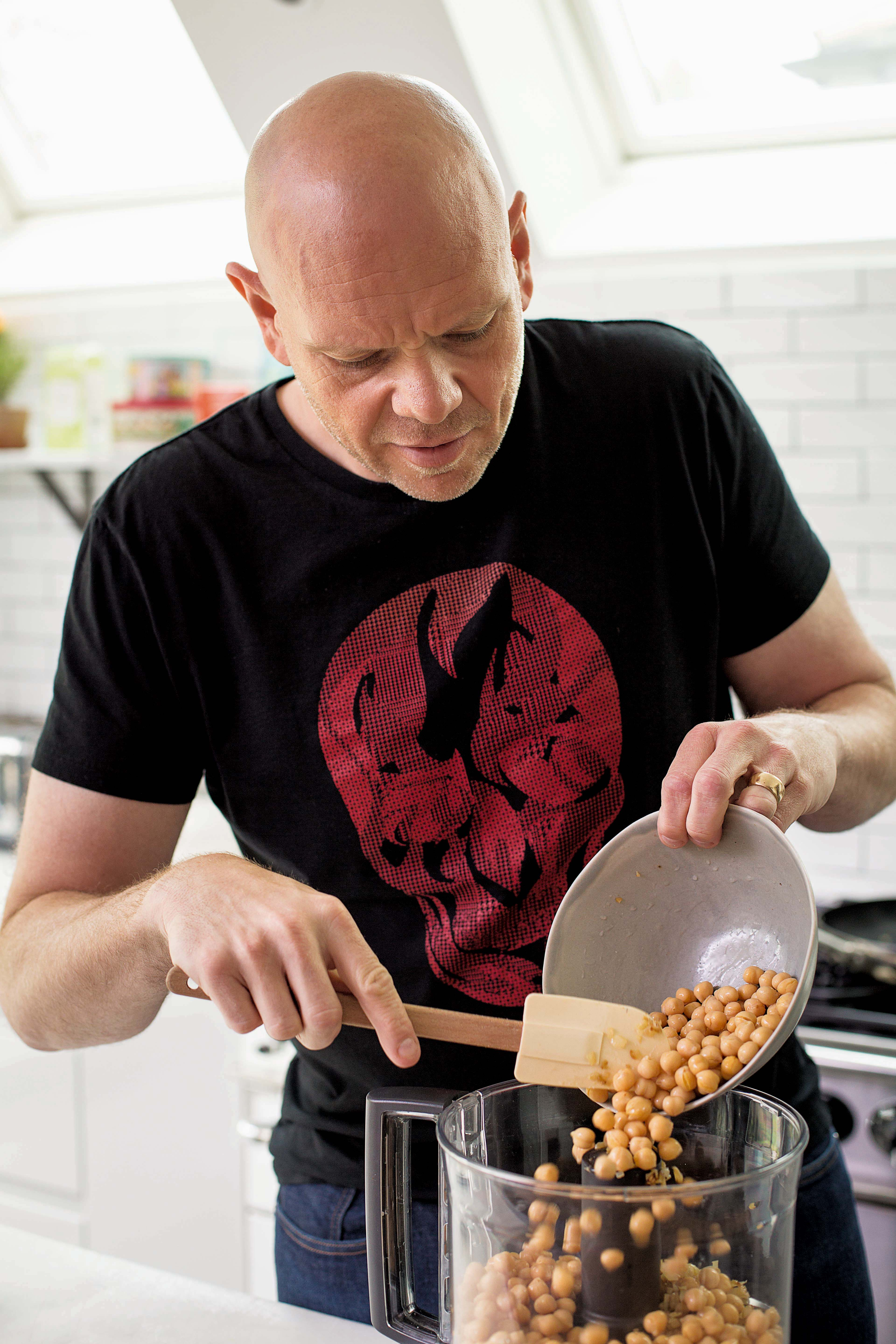 Celebrity chef tom kerridge on how to lose weight and still love tom making baked falafel with tzatziki from lose weight for good cristian barnett forumfinder Choice Image