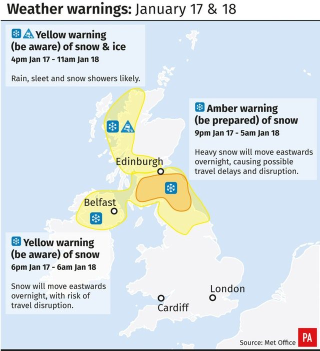 Met Office upgrades weather warning for Cumbria - high chance of snow