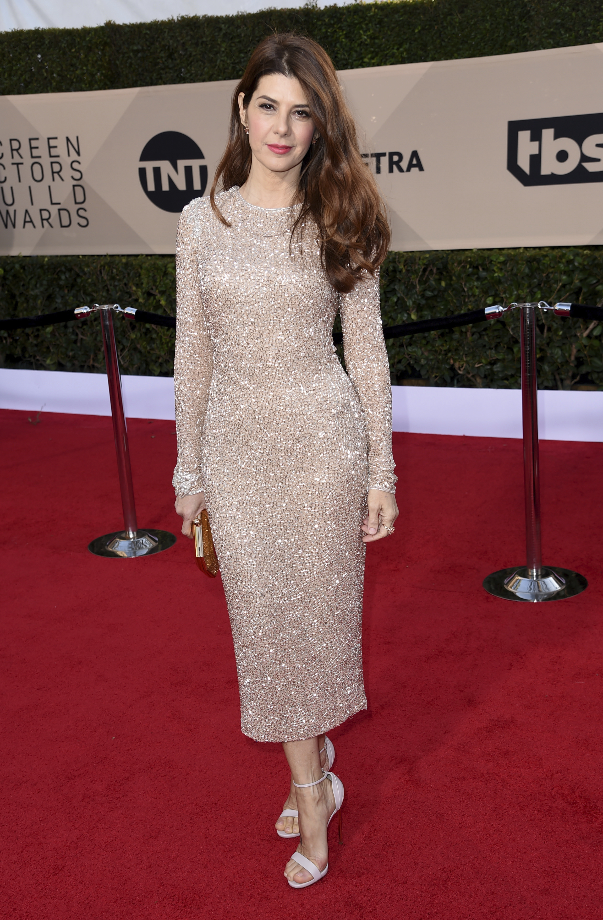 Marisa Tomei arrives at the 24th annual Screen Actors Guild Awards