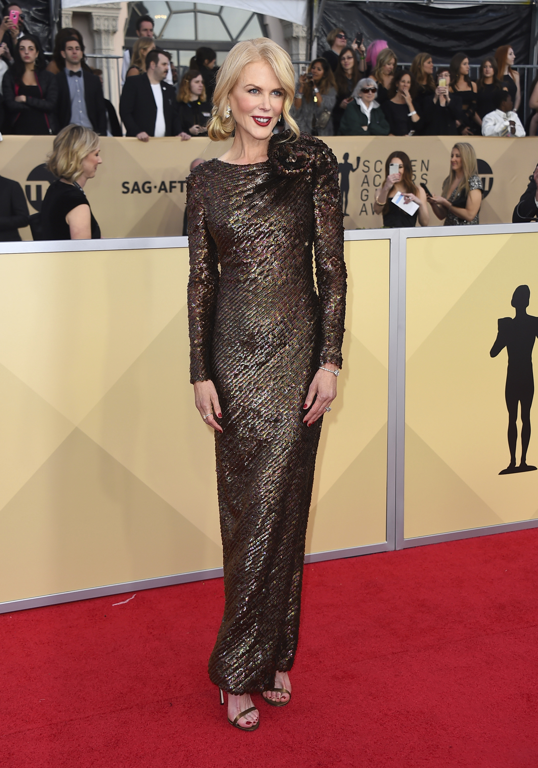 Nicole Kidman arrives at the 24th annual Screen Actors Guild Awards