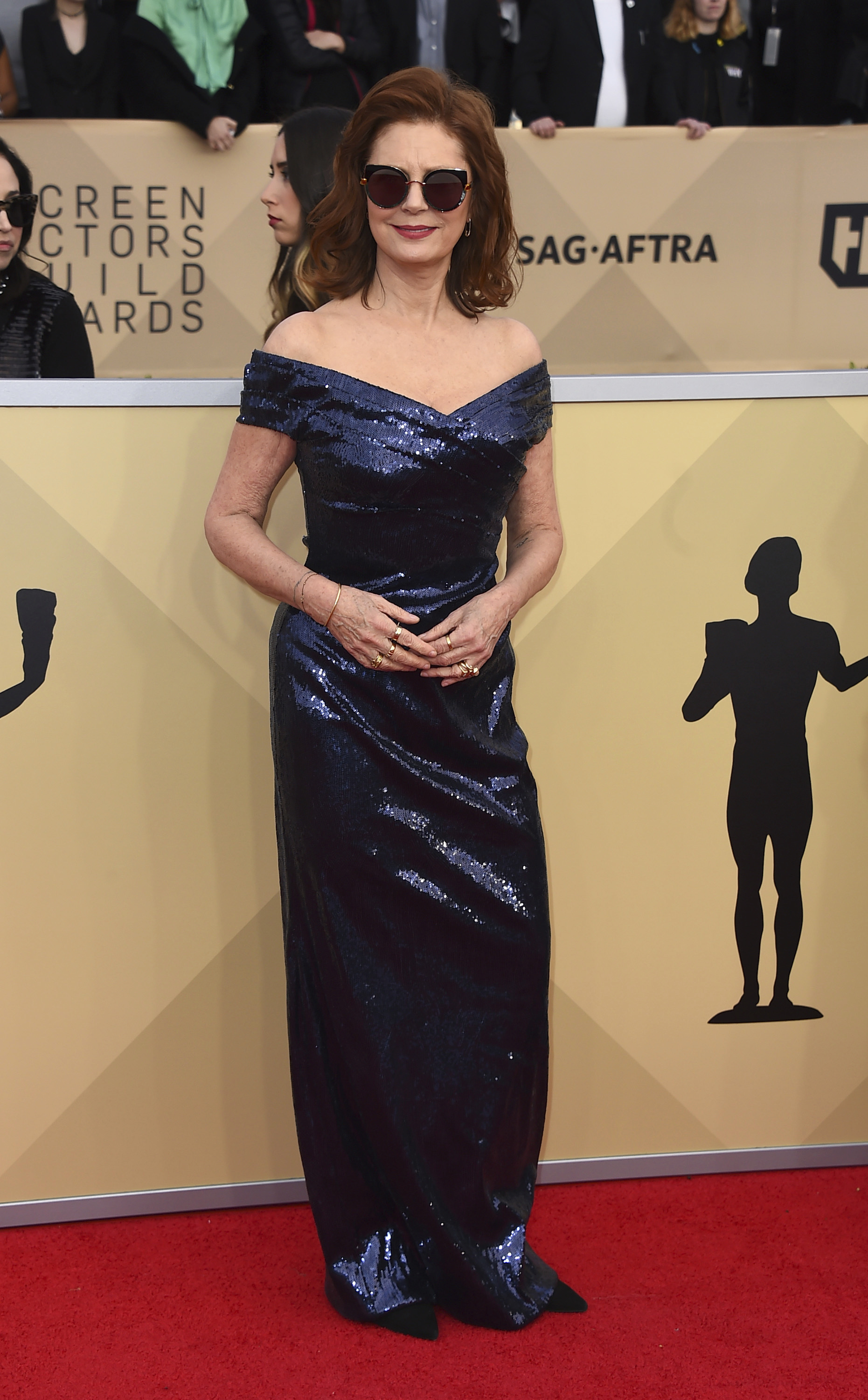 Susan Sarandon arrives at the 24th annual Screen Actors Guild Awards