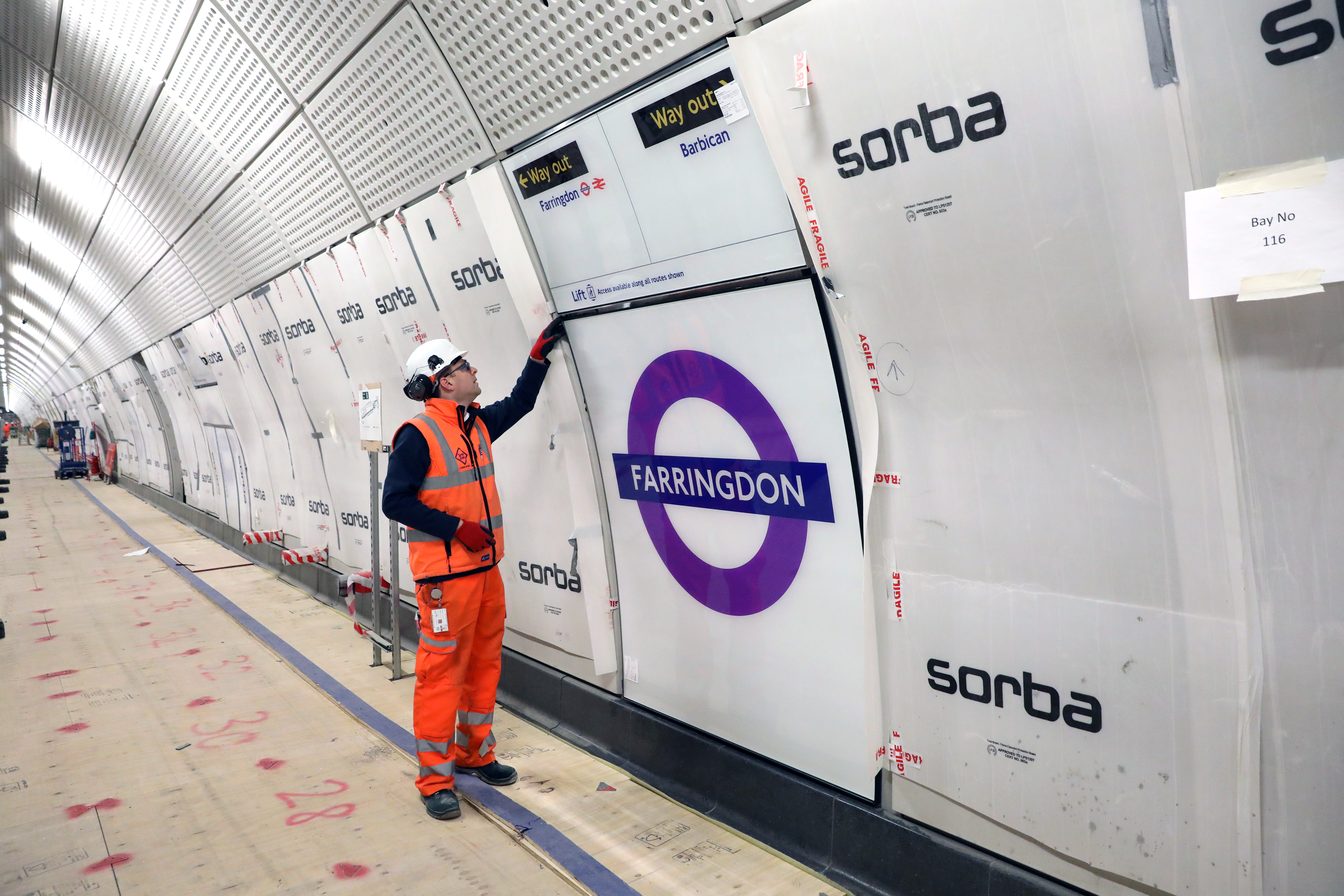The Crossrail project is funded by the Department for Transport and Transport for London (Transport for London/PA)