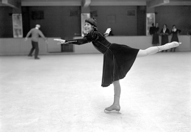 Norwegian figure skater Sonja Henie, who won three Olympic golds before the age of 24 (PA)