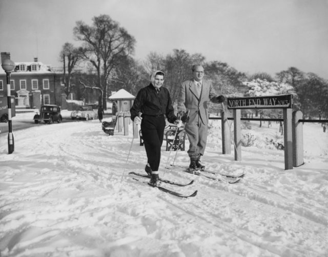 Men started competing in cross-country skiing in 1924, while women were first allowed to enter in 1952 (PA)