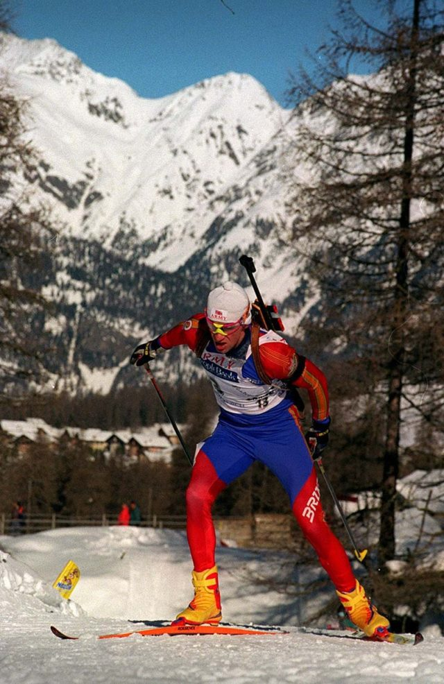 Biathlete Jason Sklenar, part of the British Winter Olympic team at the 1992 and 2002 Games (PA)
