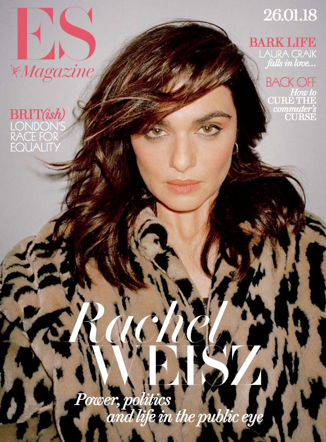 Rachel Weisz on the cover of ES magazine (Bay Garnett)