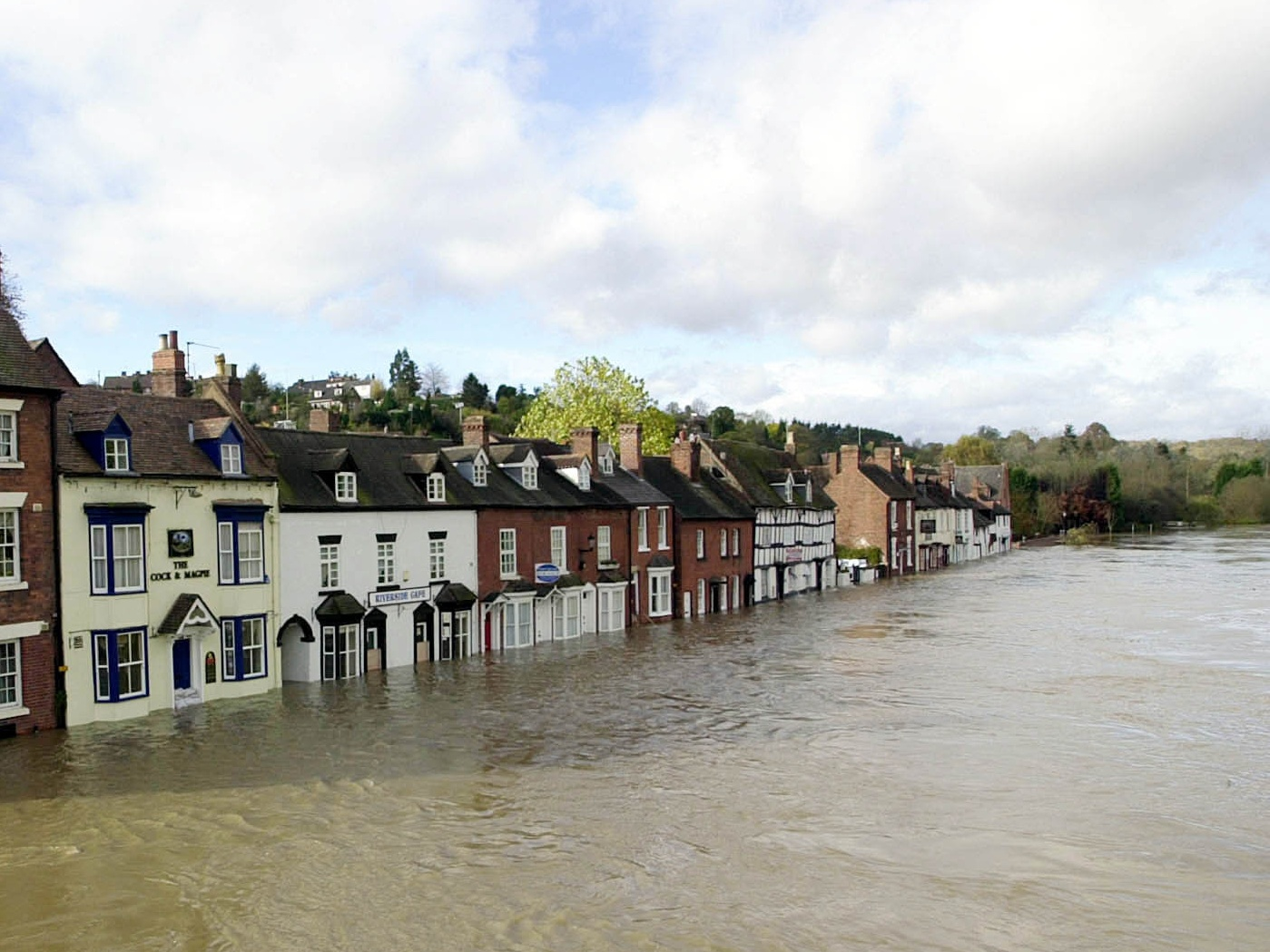 Bewdley on the River Severn, pictured during a flood, was a trading port (David Jones/PA)