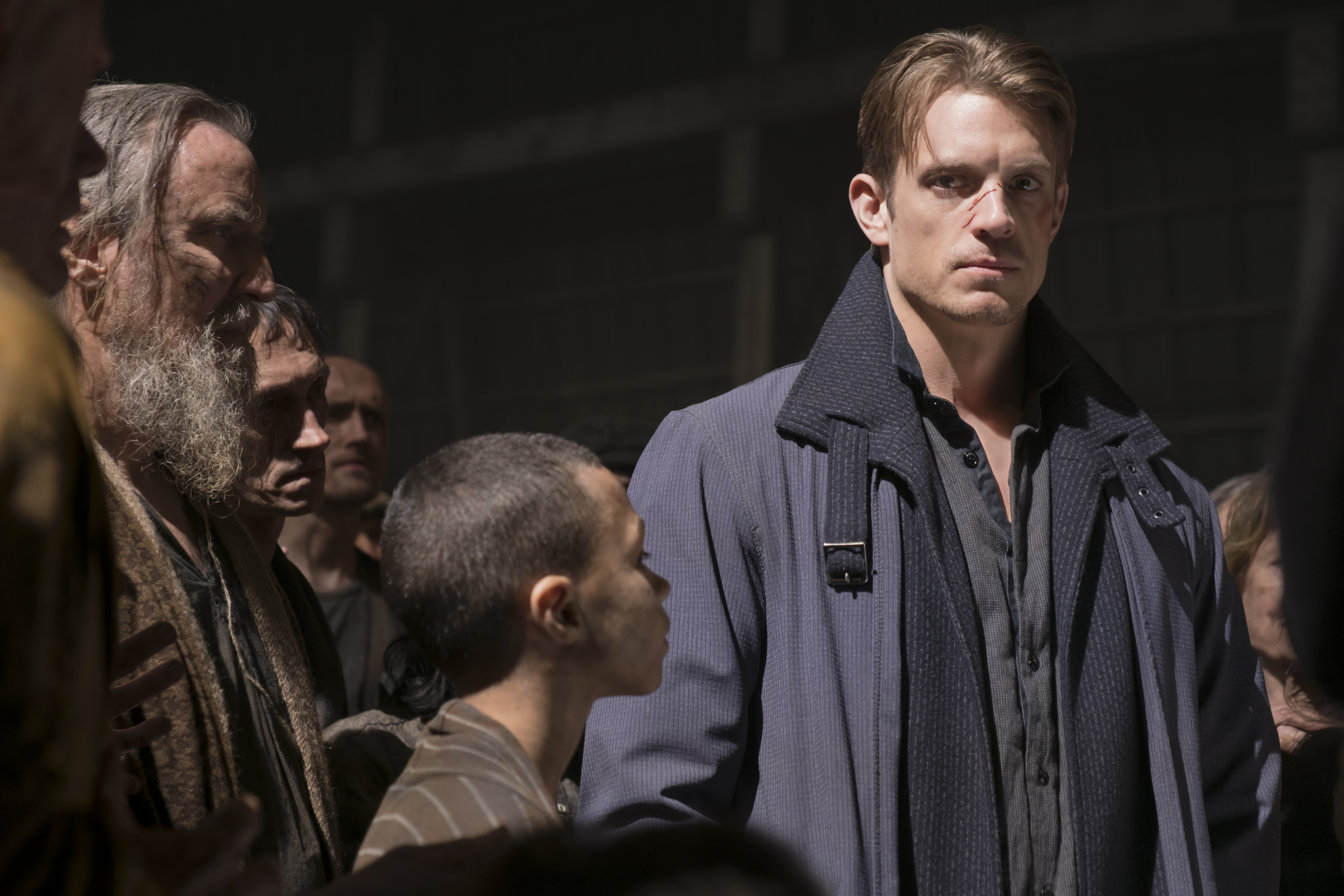 Altered Carbon's leading man, Joel Kinnaman in action as Kovacs (Netflix)