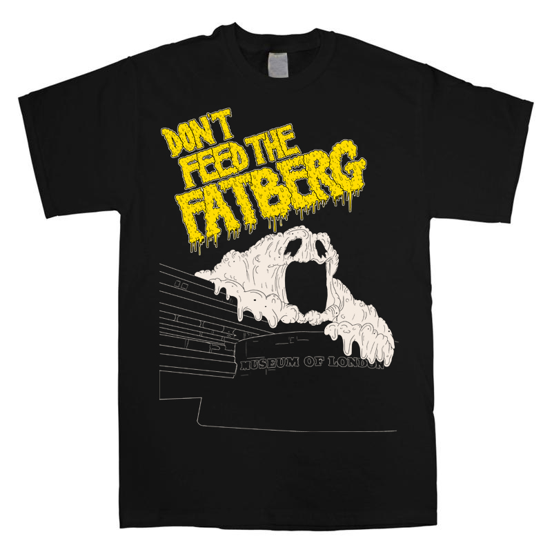 A fatberg t-shirt from the Museum of London