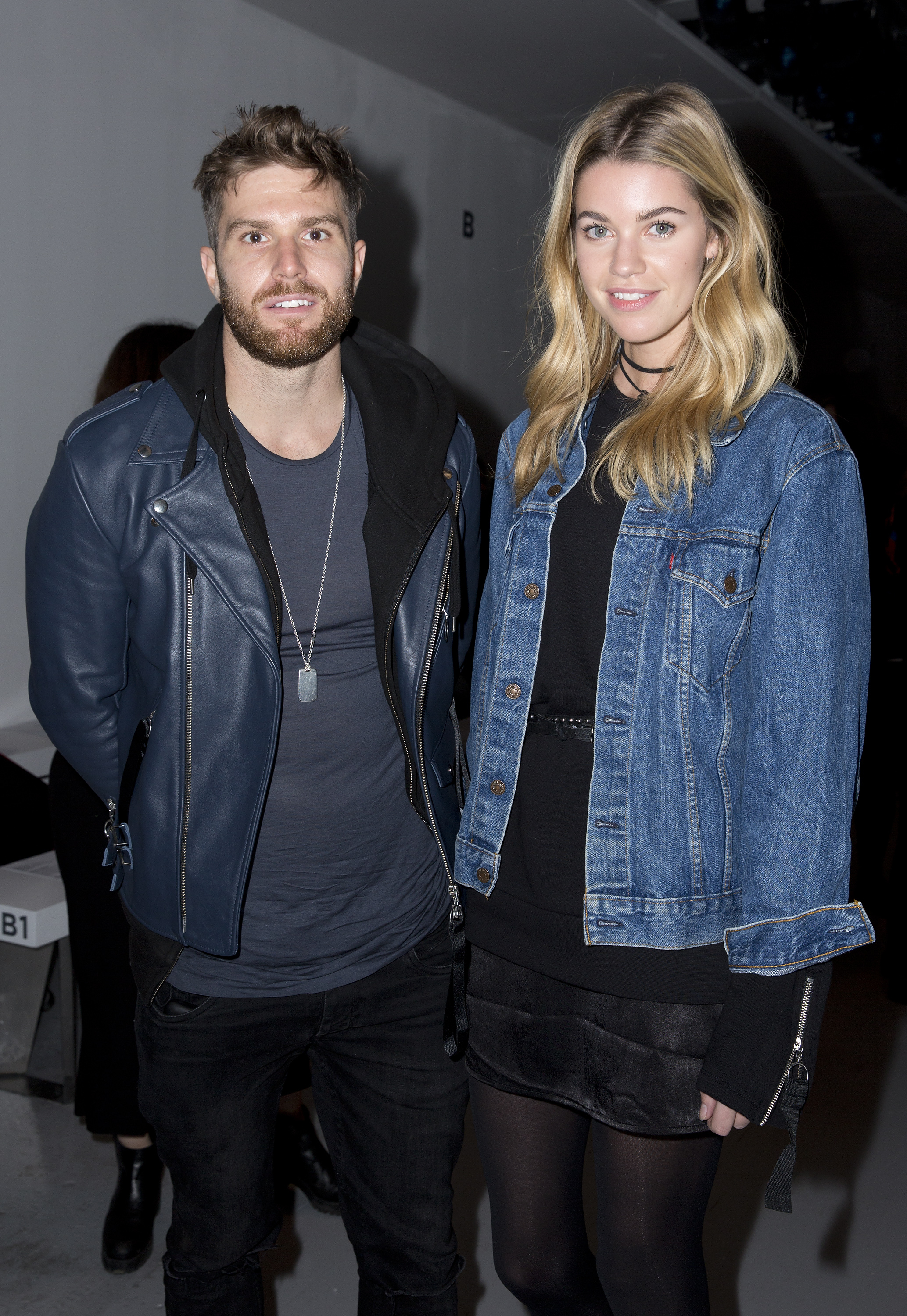Joel Dommett and his fiancee Hannah Cooper. (Isabel Infantes/PA)