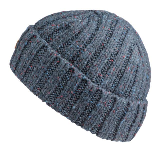 Grey ski-hat on white background