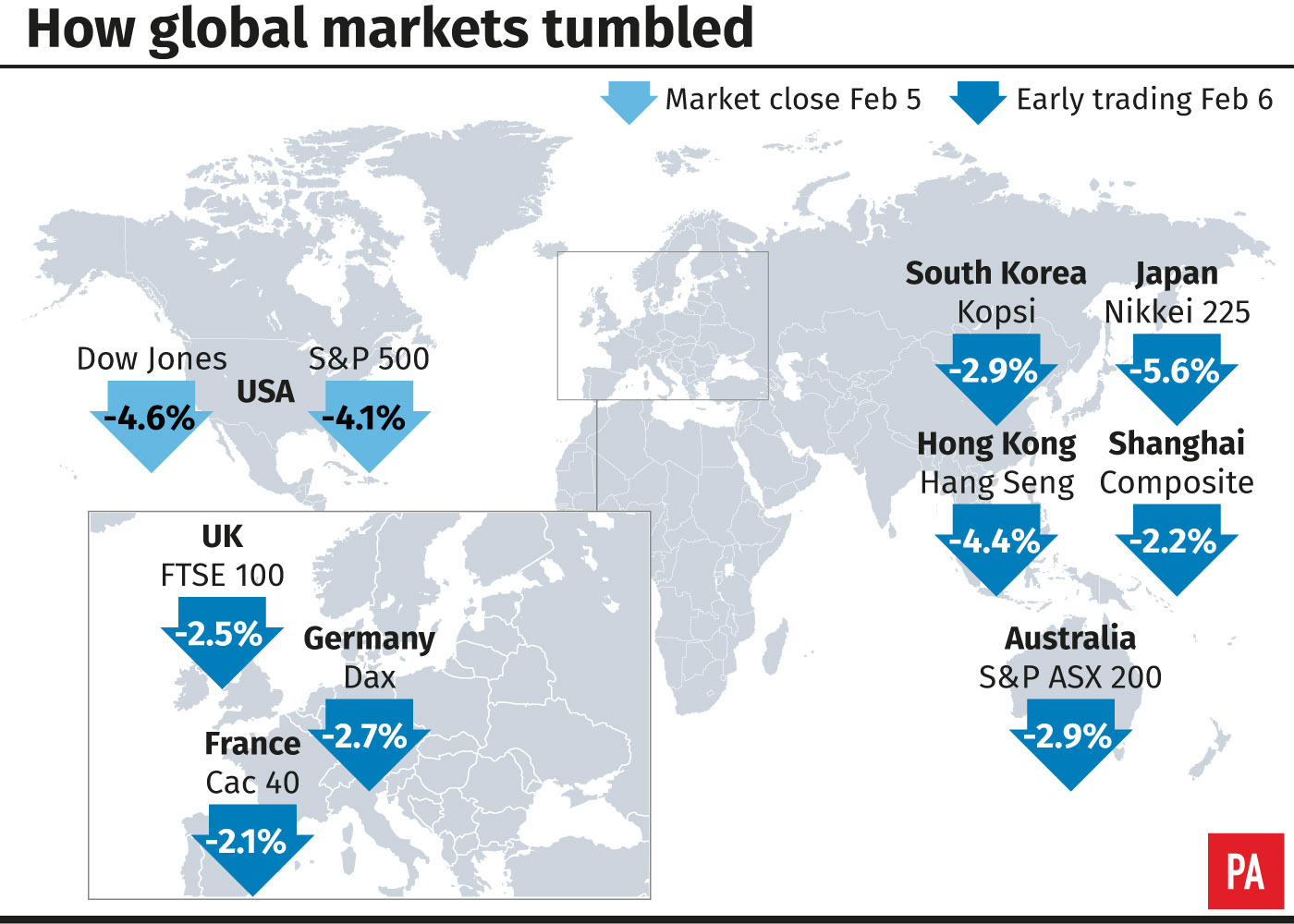 How global markets tumbled