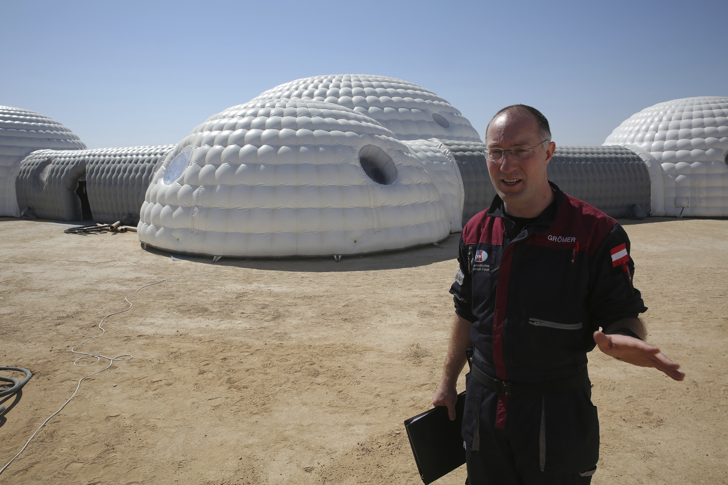 Gernot Groemer, commander of the AMADEE-18 Mars simulation in the Dhofar desert of southern Oman (Sam McNeil/AP)