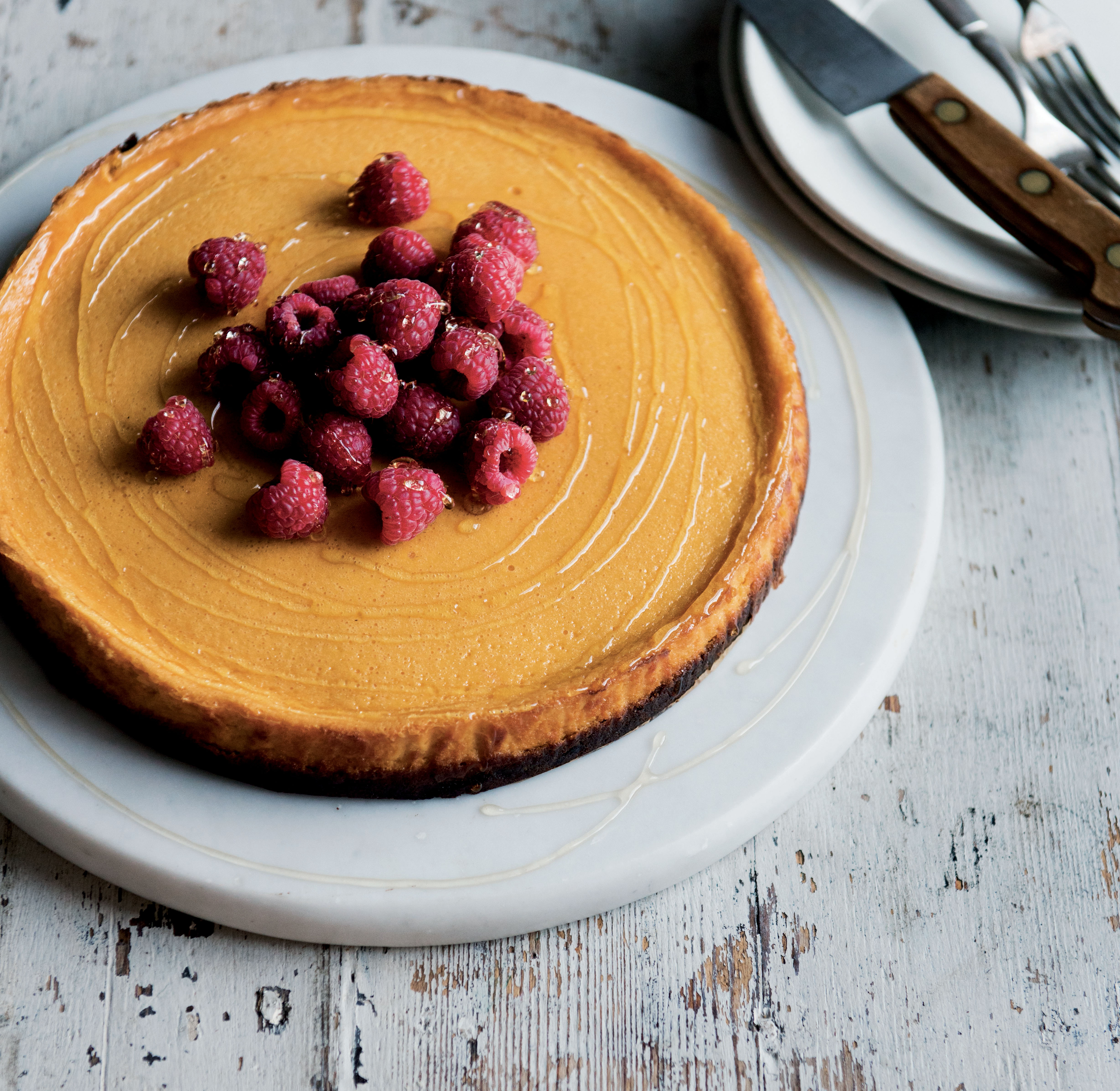 Pumpkin and ginger cheesecake (Issy Croker/PA)