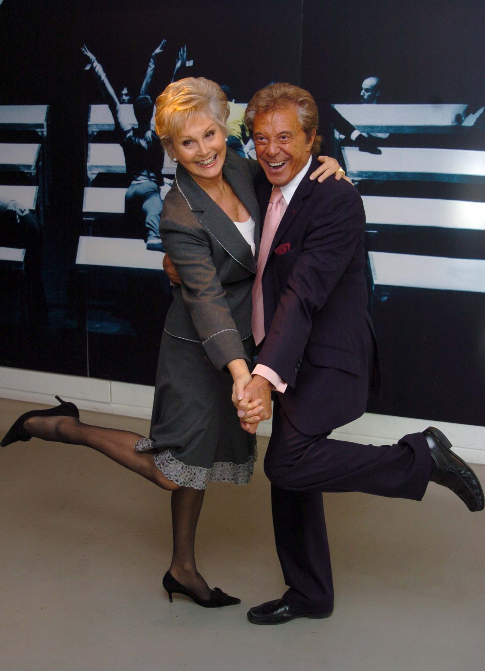 Angela Rippon and Lionel Blair at The Critics Circle National Dance Awards at Sadlers Wells, London, 2007. (Joel Ryan/PA)