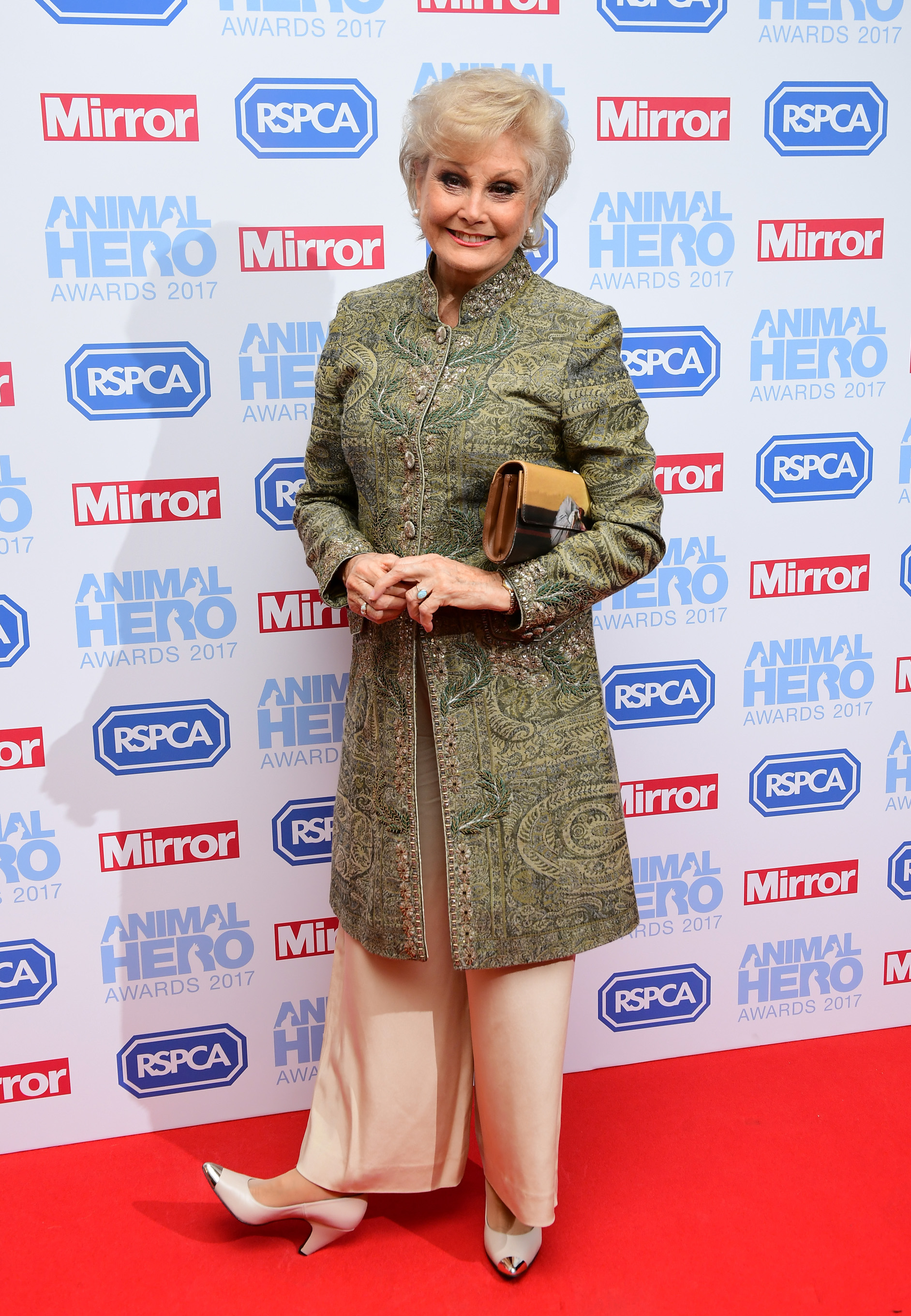 Angela Rippon attending The Animal Hero Awards held in London in September 2017. (Ian West/PA)