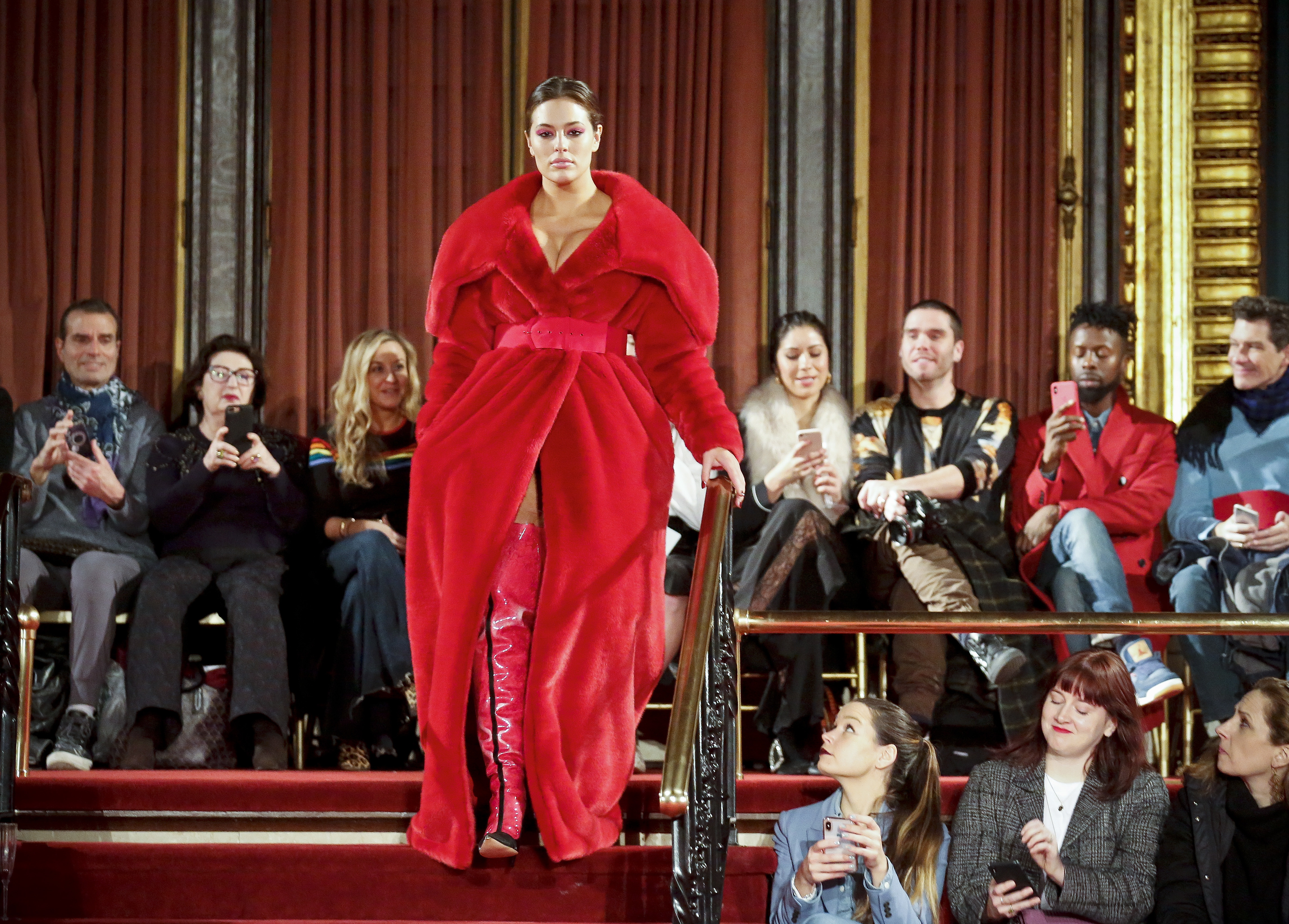 Ashley Graham in Christian Siriano's show