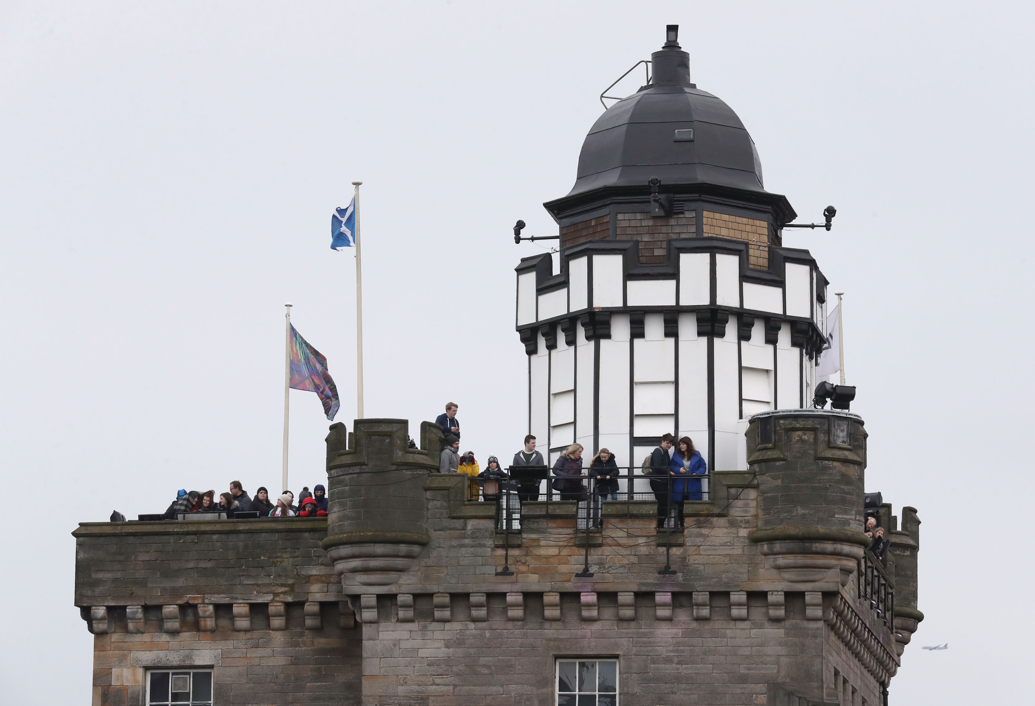 The Camera Obscura provided a good vantage point for some onlookers (Andrew Milligan/PA)