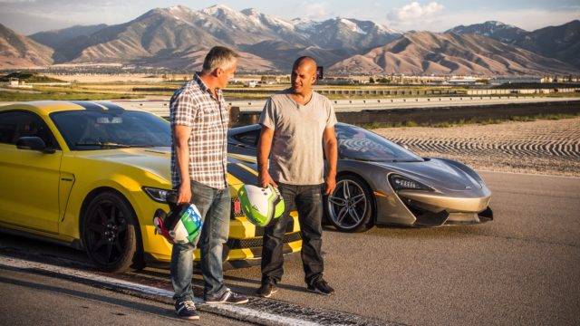 Matt LeBlanc and Chris Harris in an episode from Top Gear (BBC Worldwide)