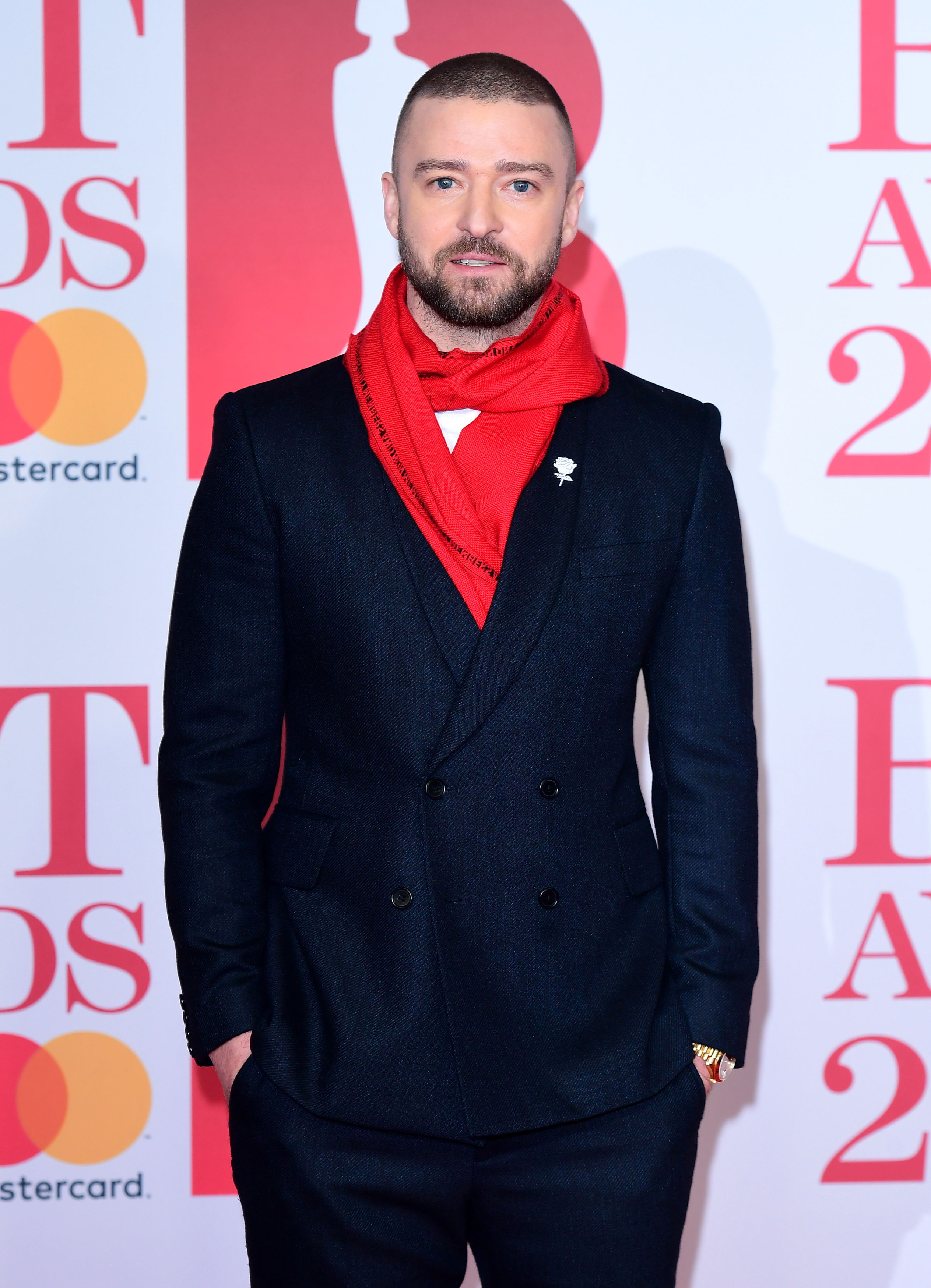 Justin Timberlake flew over for the Brits (Ian West/PA)