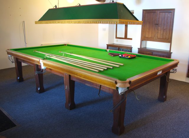 The snooker table at Wool Hall studio (Gardiner Houlgate /PA)