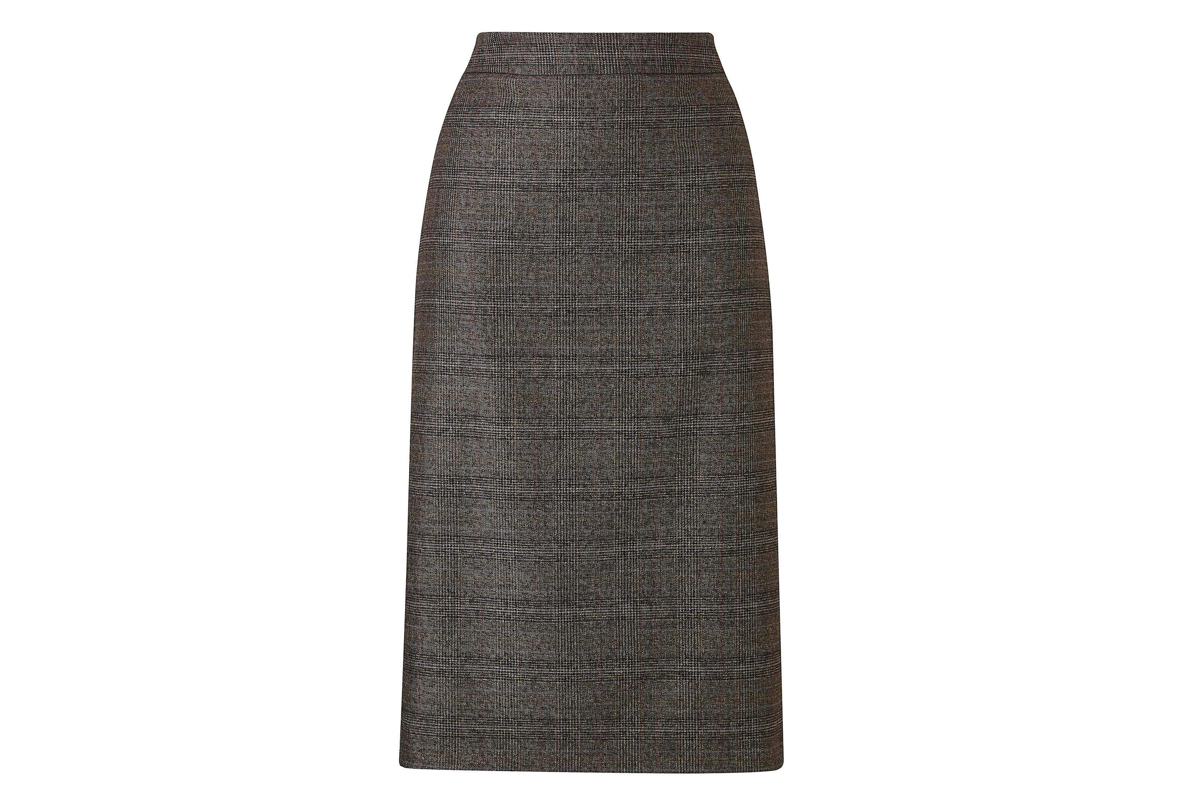 Simply Be Check Pencil Skirt