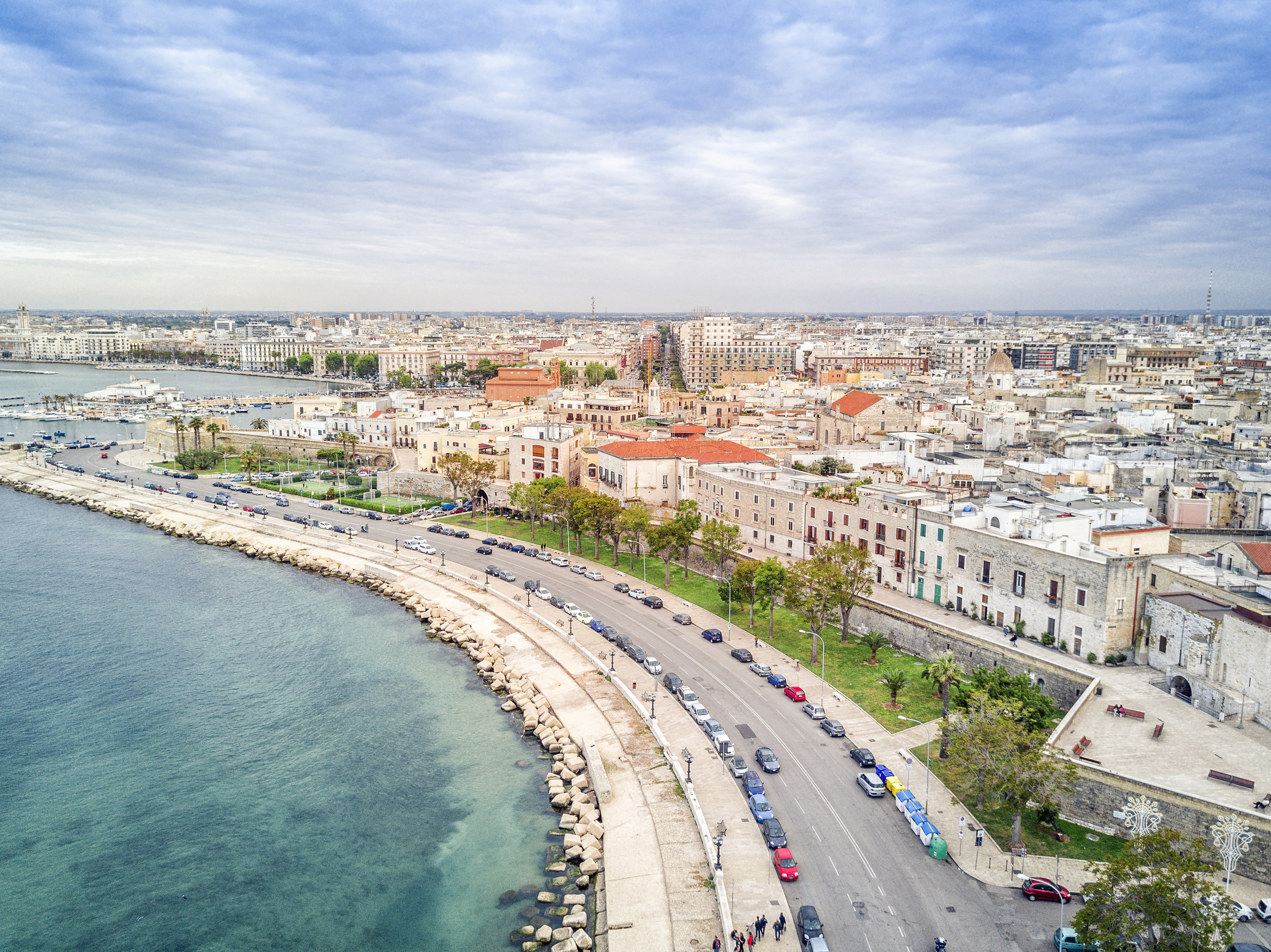 Panoramic view of sea and old town in Bari, Puglia, Italy. (Jacek_SopotnickiThinkstock/PA)