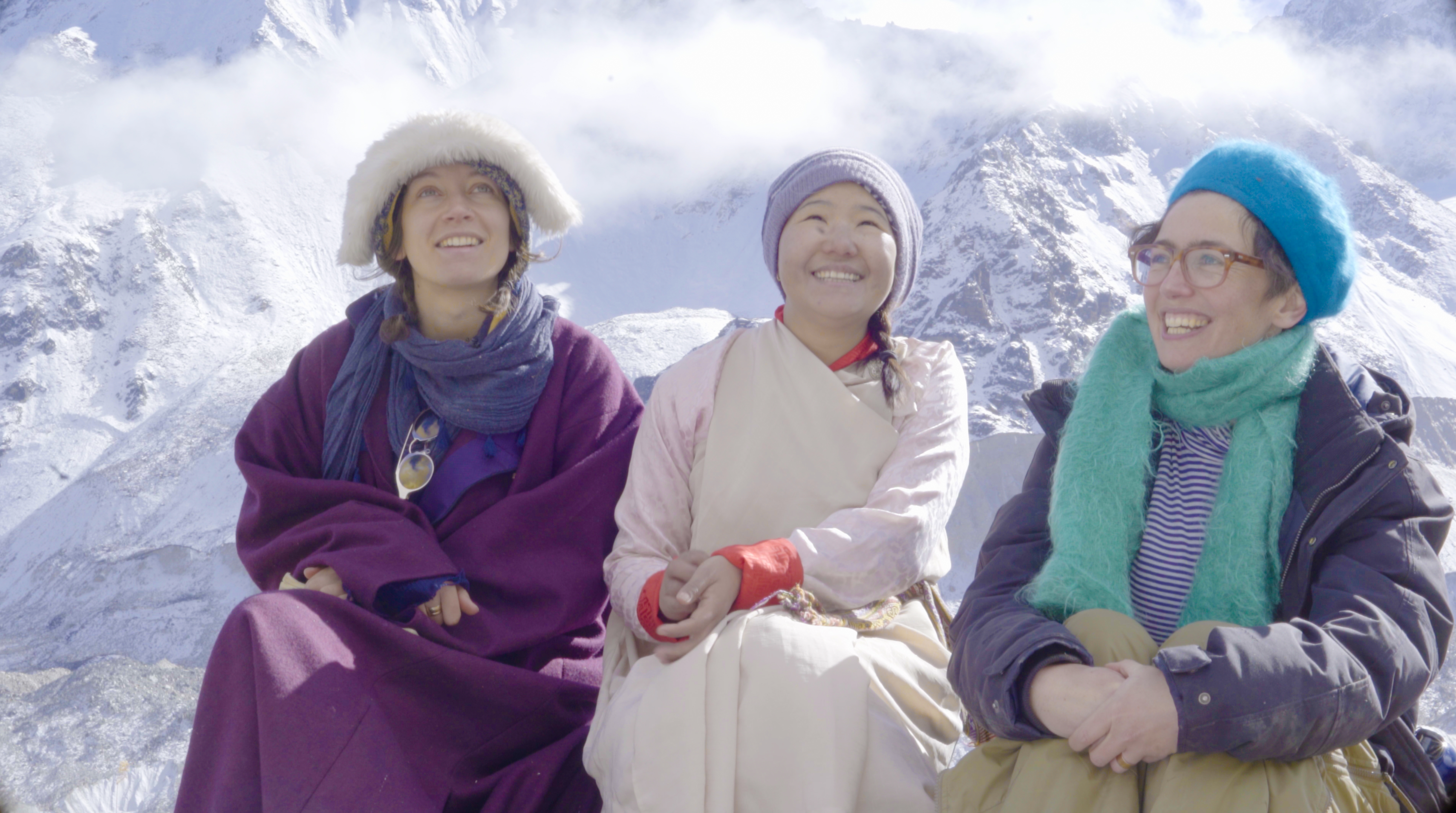 Elise, Jangu and Emily in Sikkim (Exodus/PA)
