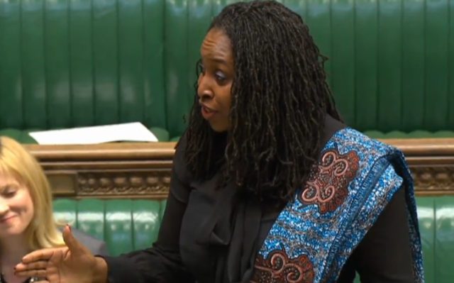 Shadow women and equalities Dawn Butler speaks in the Commons during the debate on International Women's Day