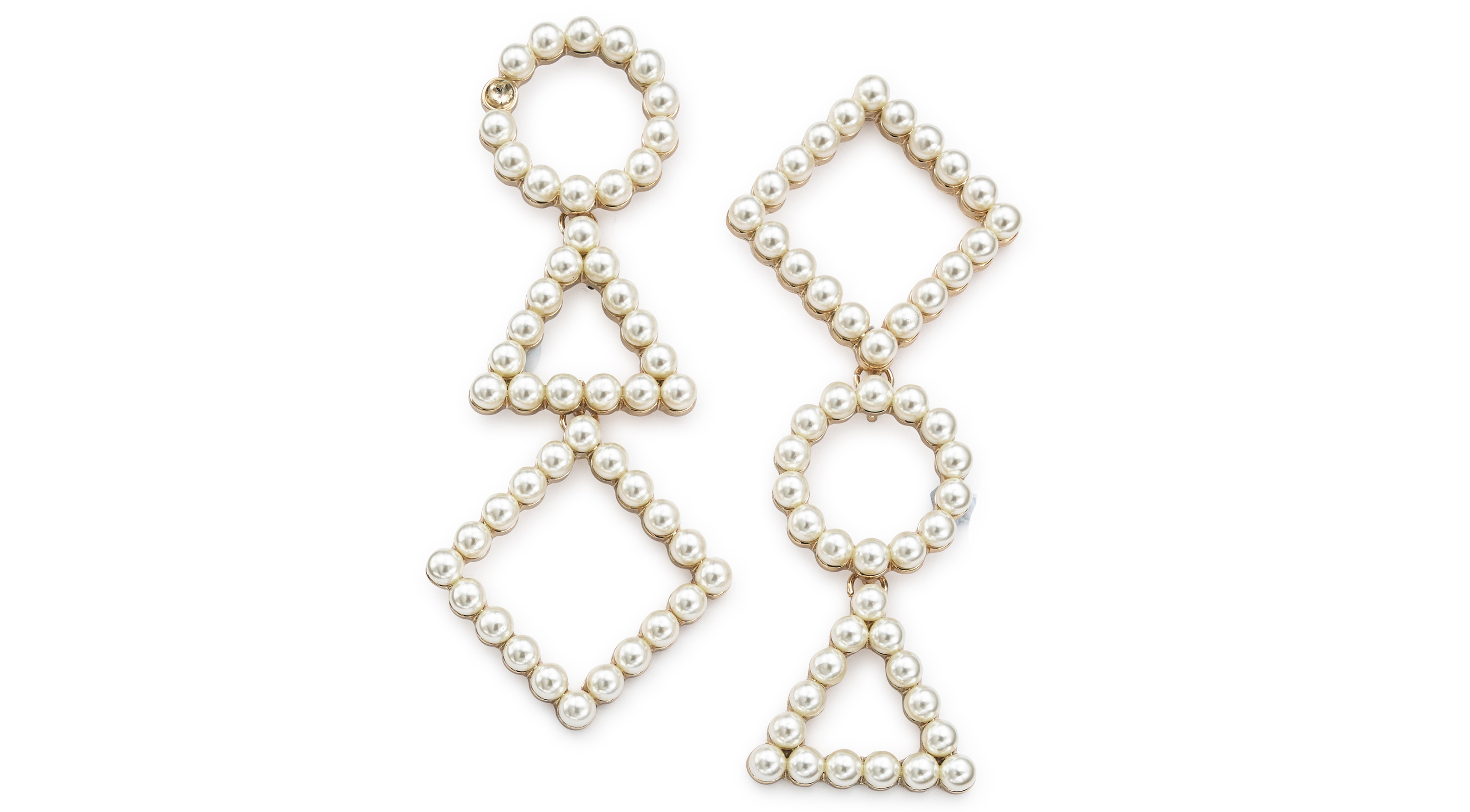 Simply Be Mismatch Pearl Earrings