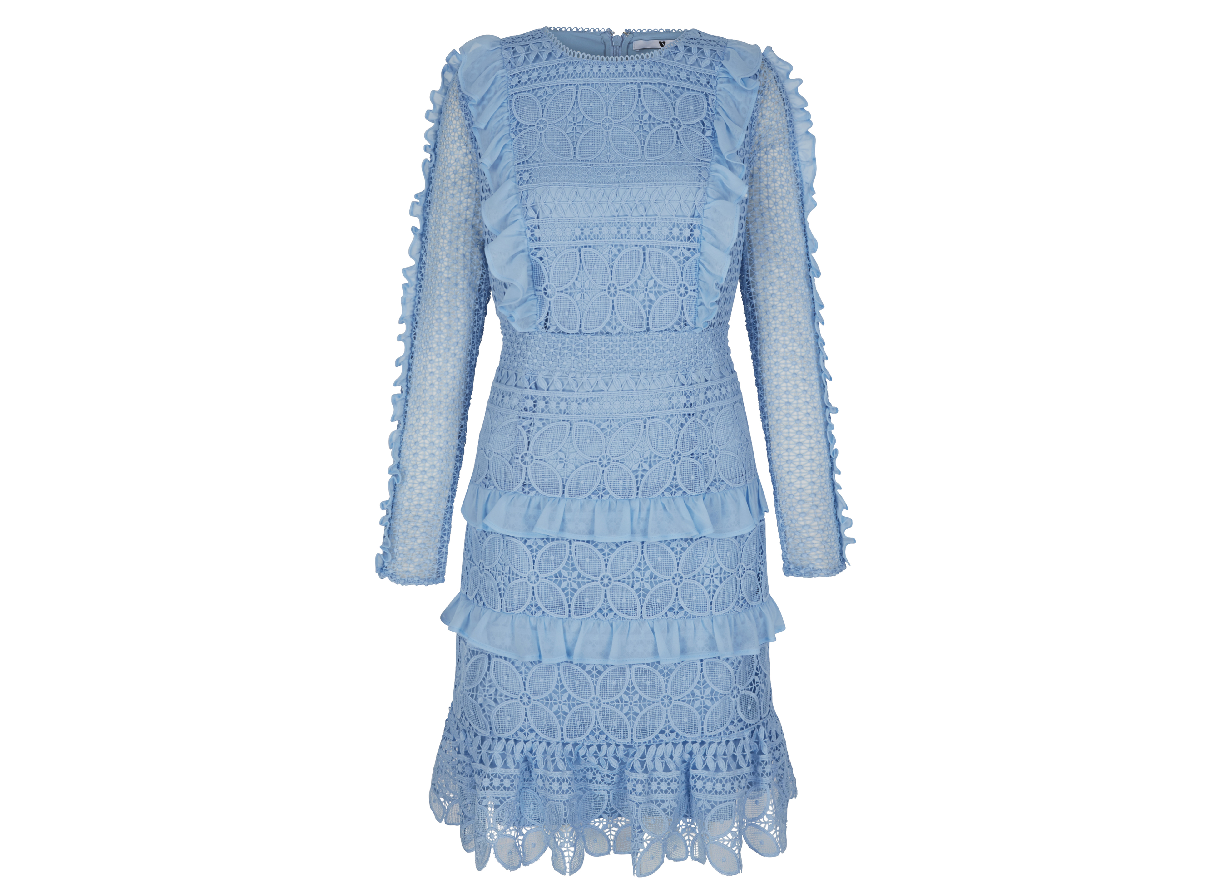 V by Very Premium Lace Frill Dress