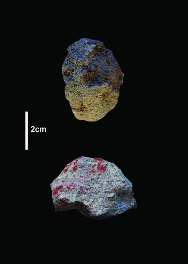 Pigments from the Olorgesailie Basin.