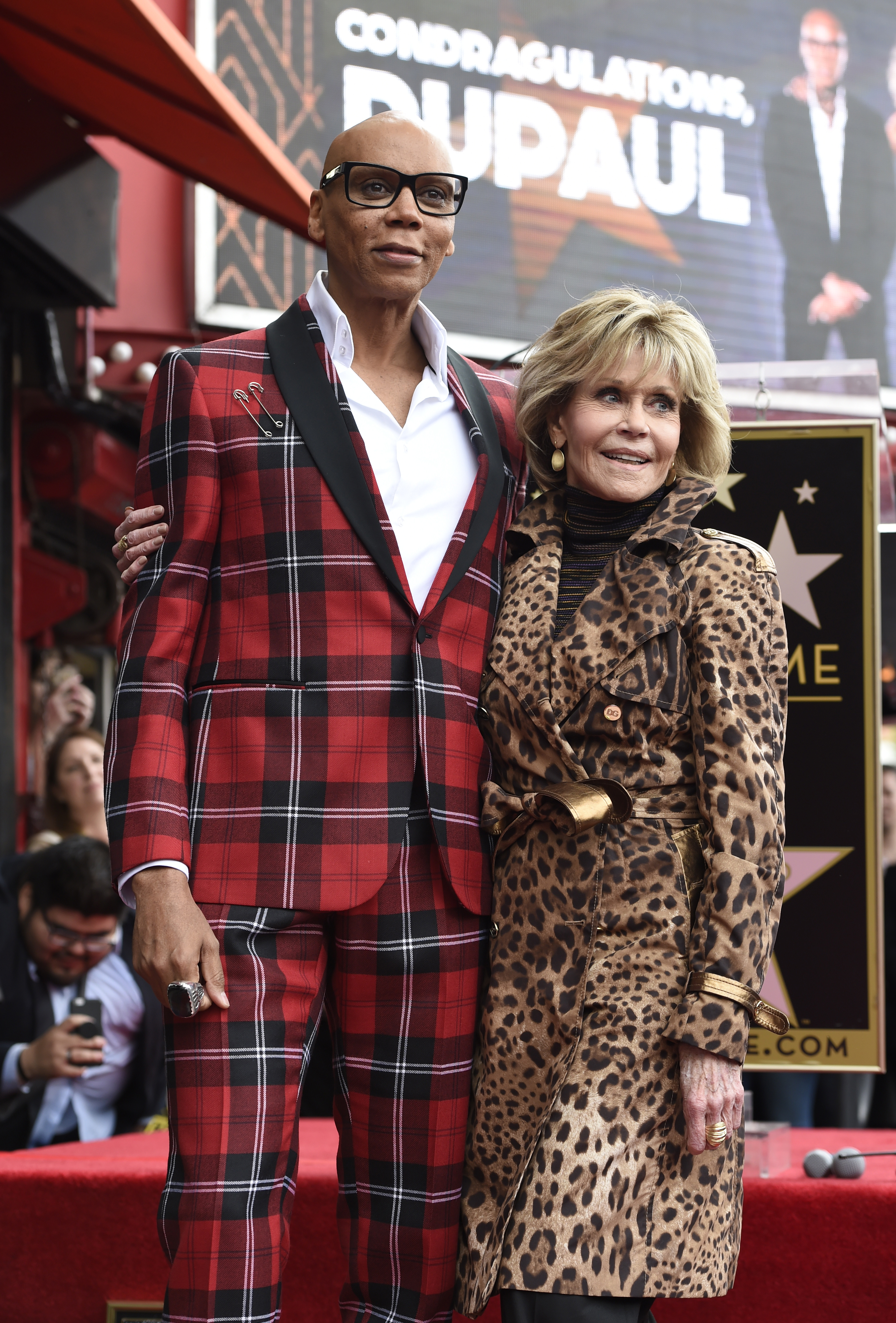 RuPaul with Jane Fonda (Chris Pizzello/AP)