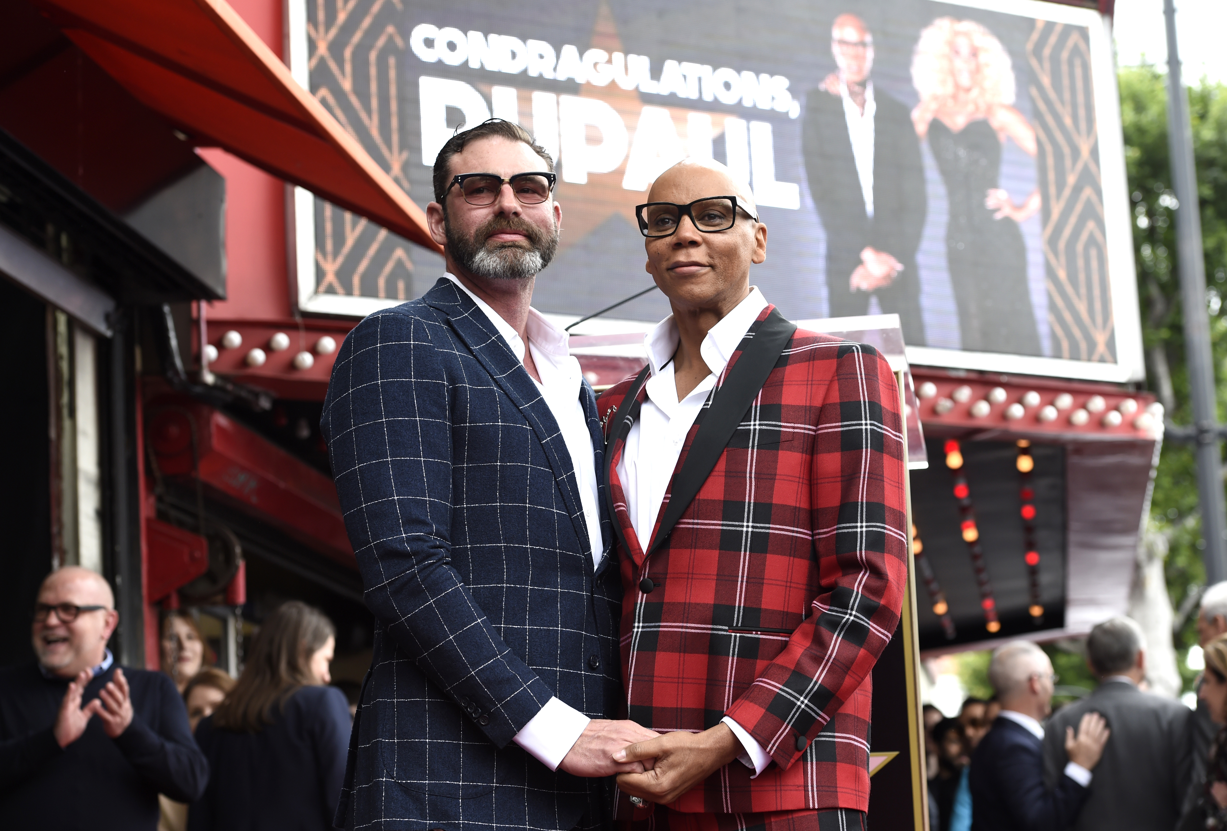 The drag artist with husband Georges LeBar (Chris Pizzello/AP)