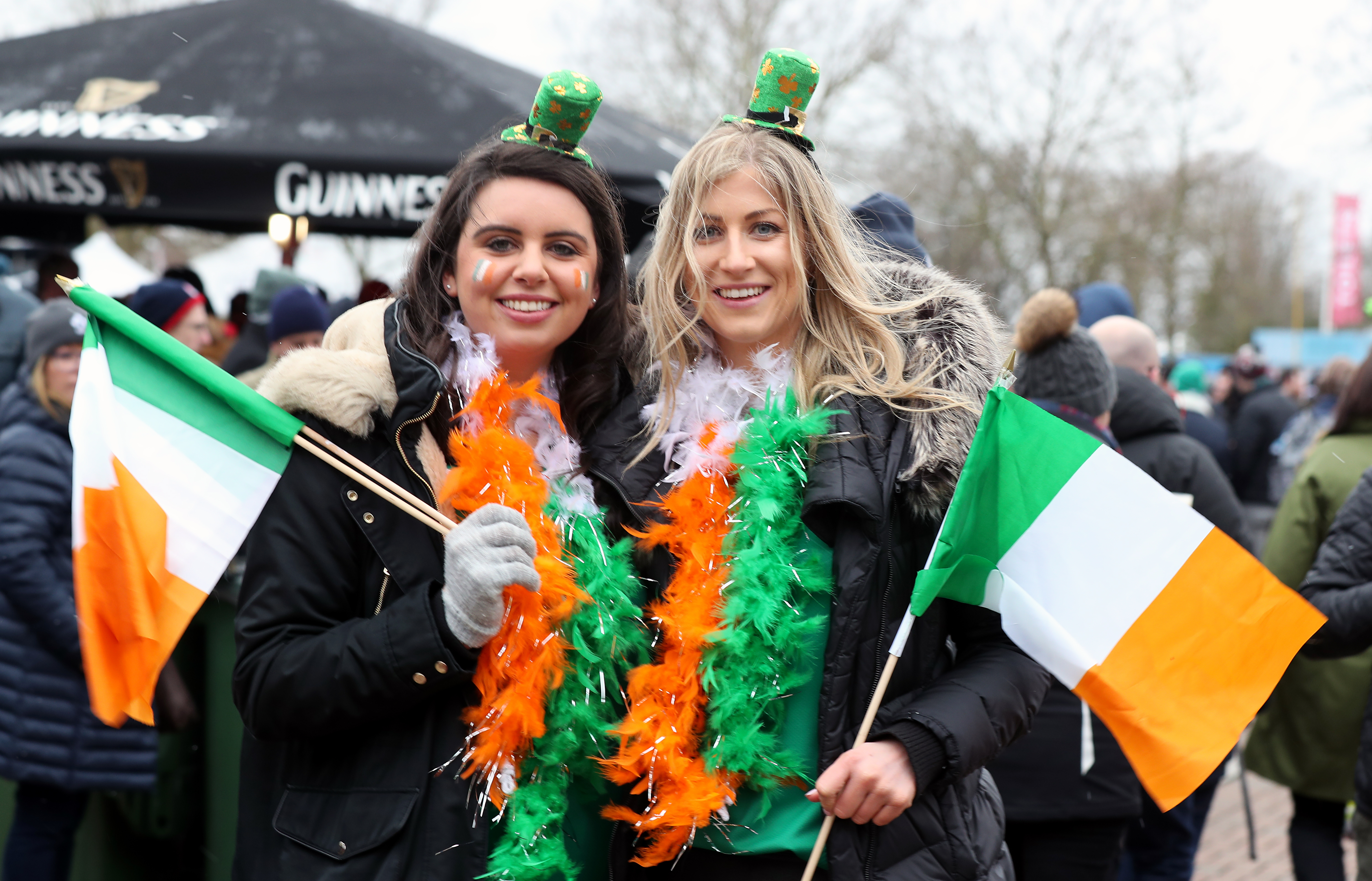 Ireland fans prior to the NatWest 6 Nations match at Twickenham Stadium, London