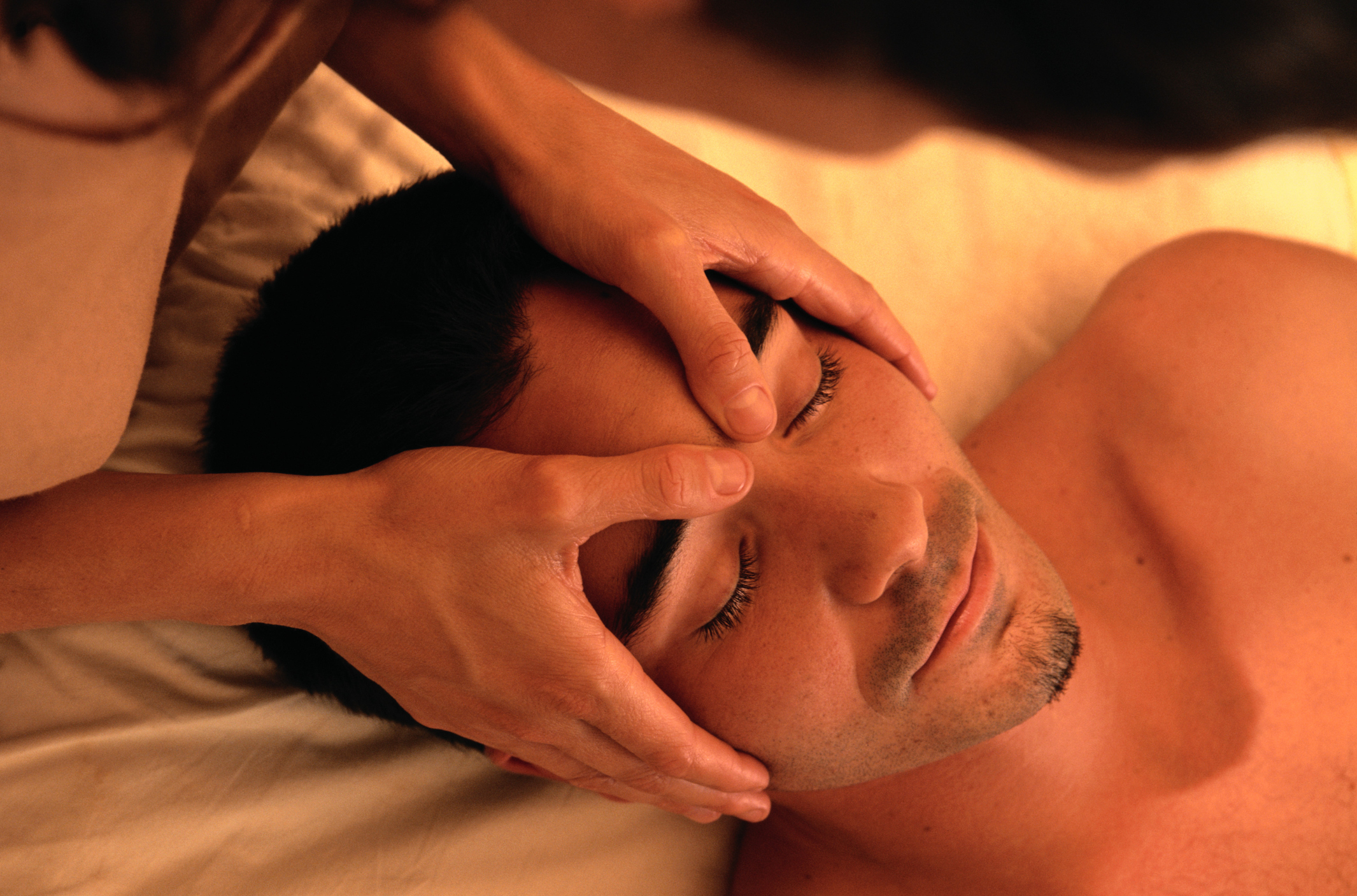Man having a facial massage