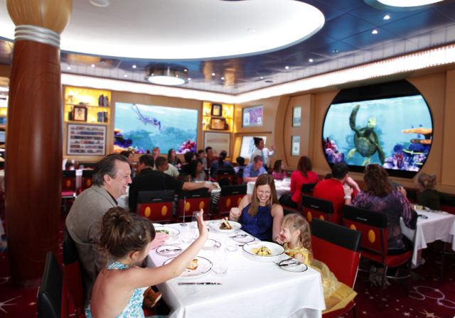 Animator's Palate restaurant on the Disney Dream