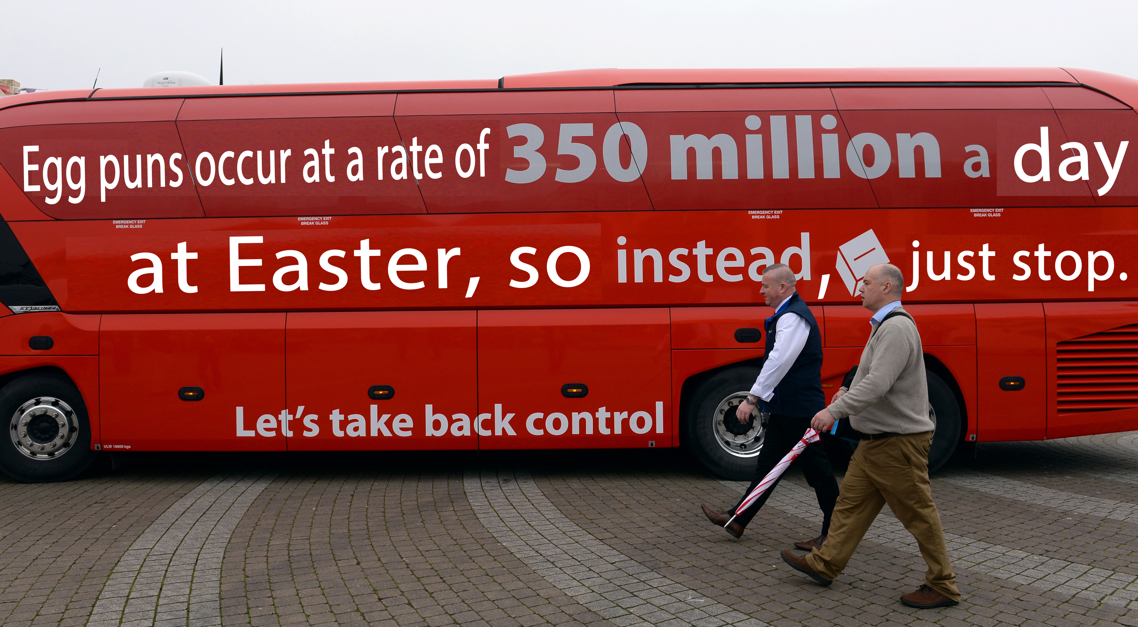 The Brexit bus with a new slogan